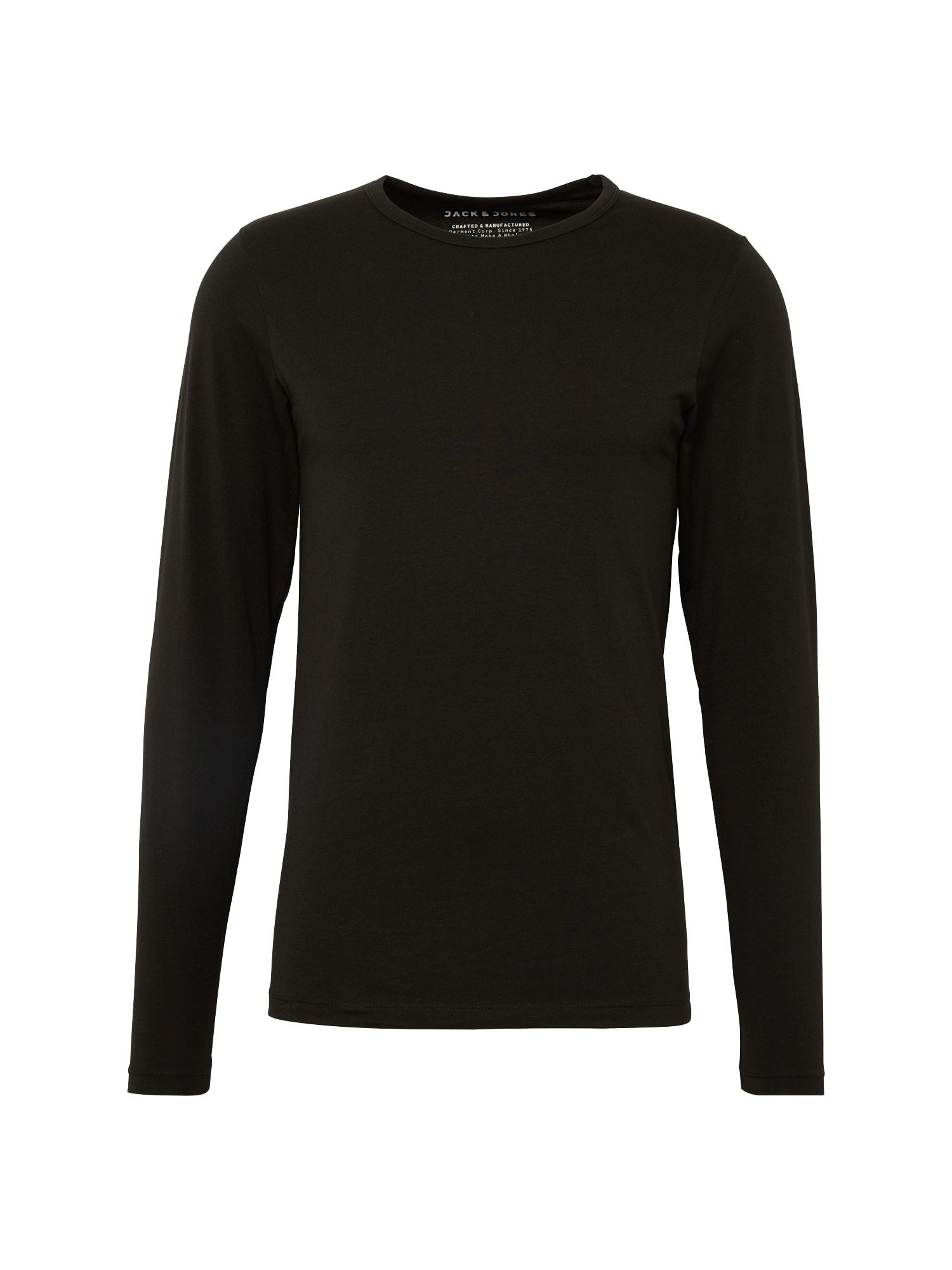 Tričko BASIC O-NECK TEE LS NOOS černá JACK & JONES