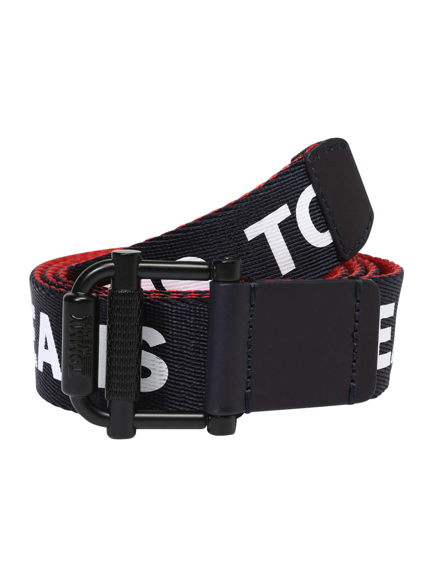 Opasek TJM Roller Webbing Belt 3.5 REV tmavě modrá červená bílá Tommy Jeans