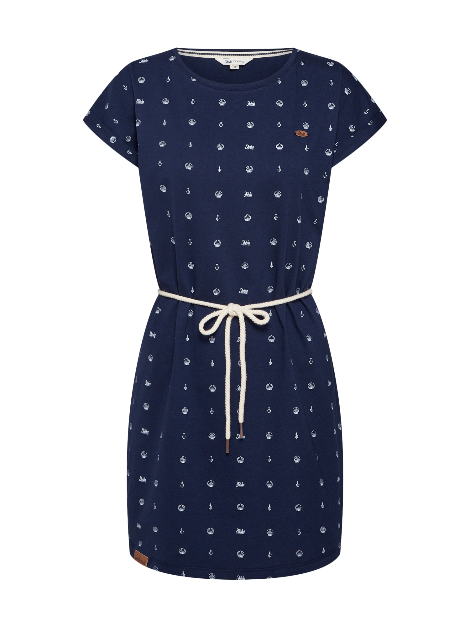 Letní šaty námořnická modř bílá SHISHA