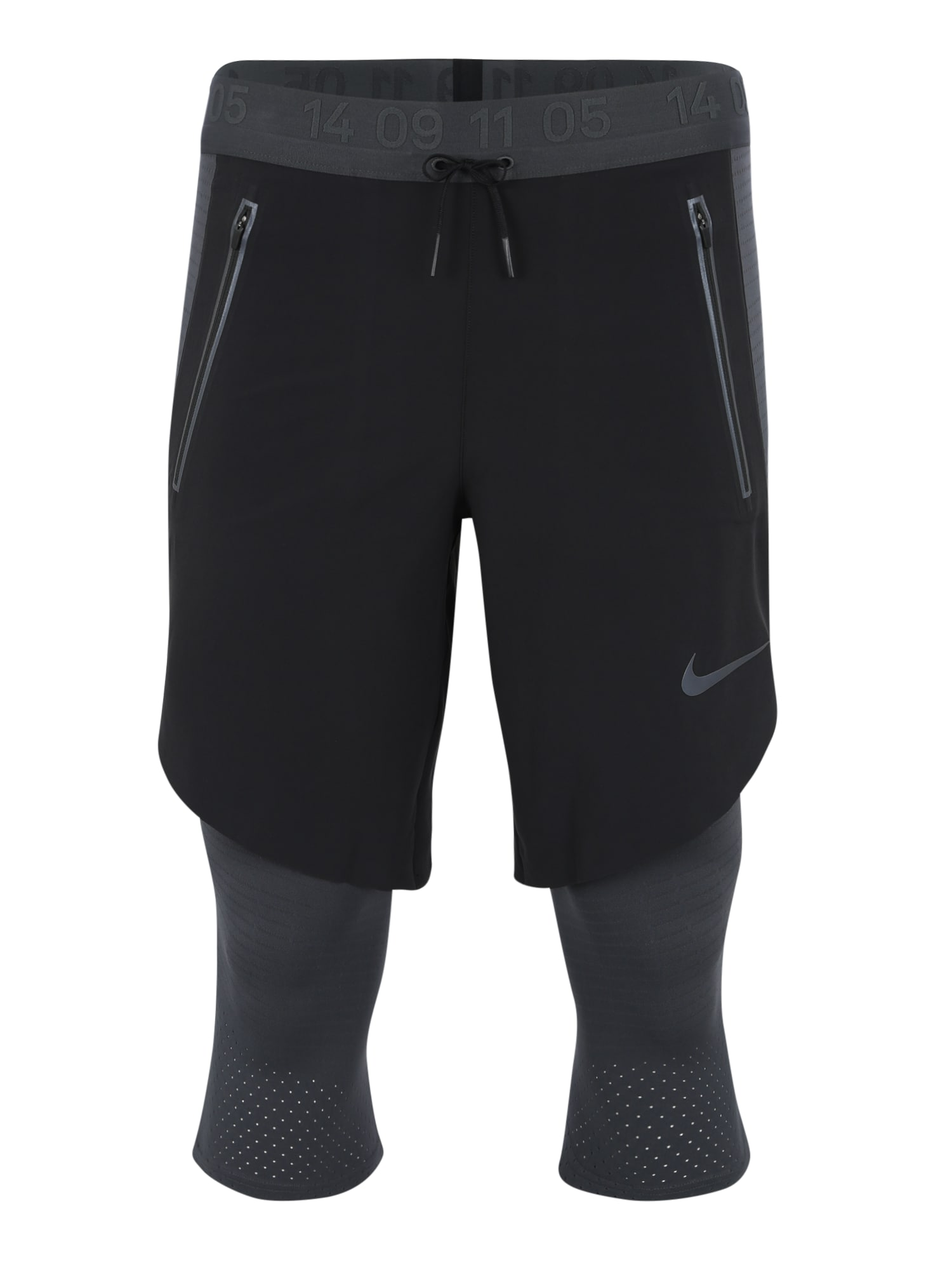 Sportovní kalhoty 2IN1 tmavě šedá černá NIKE