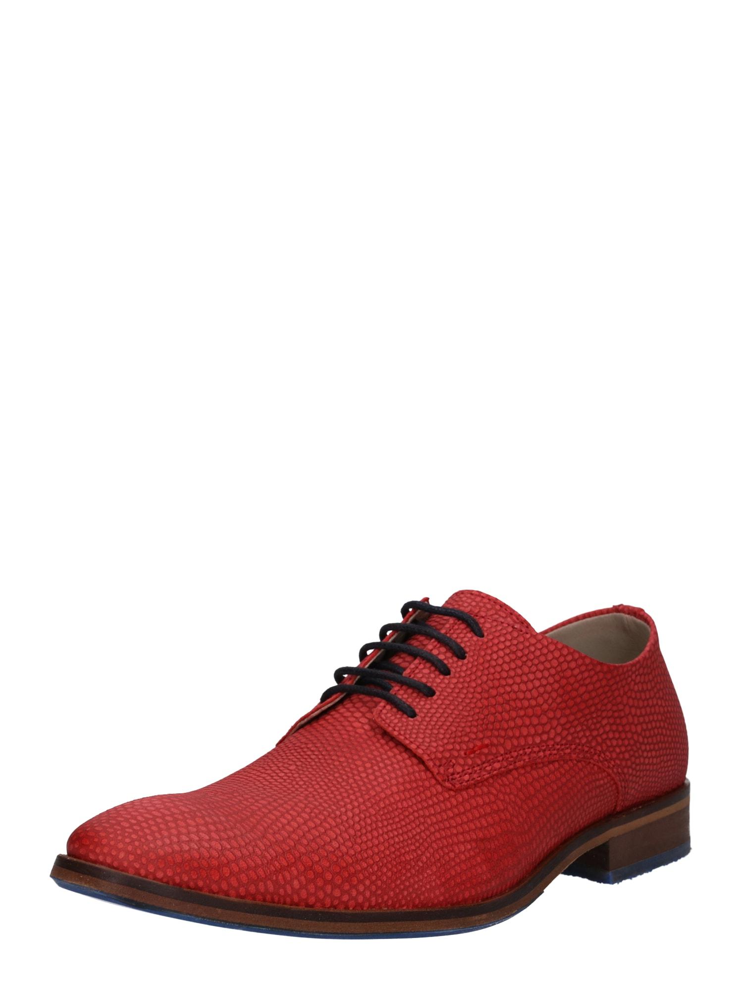 Šněrovací boty červená oranžově červená BULLBOXER
