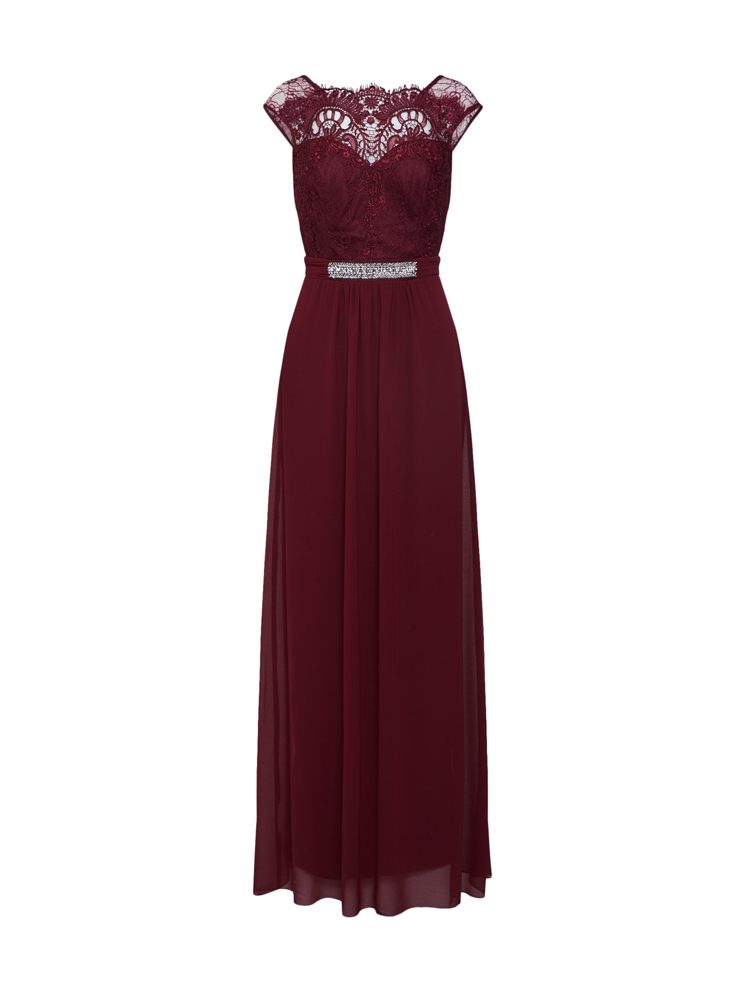 Společenské šaty burgundská červeň Lipsy