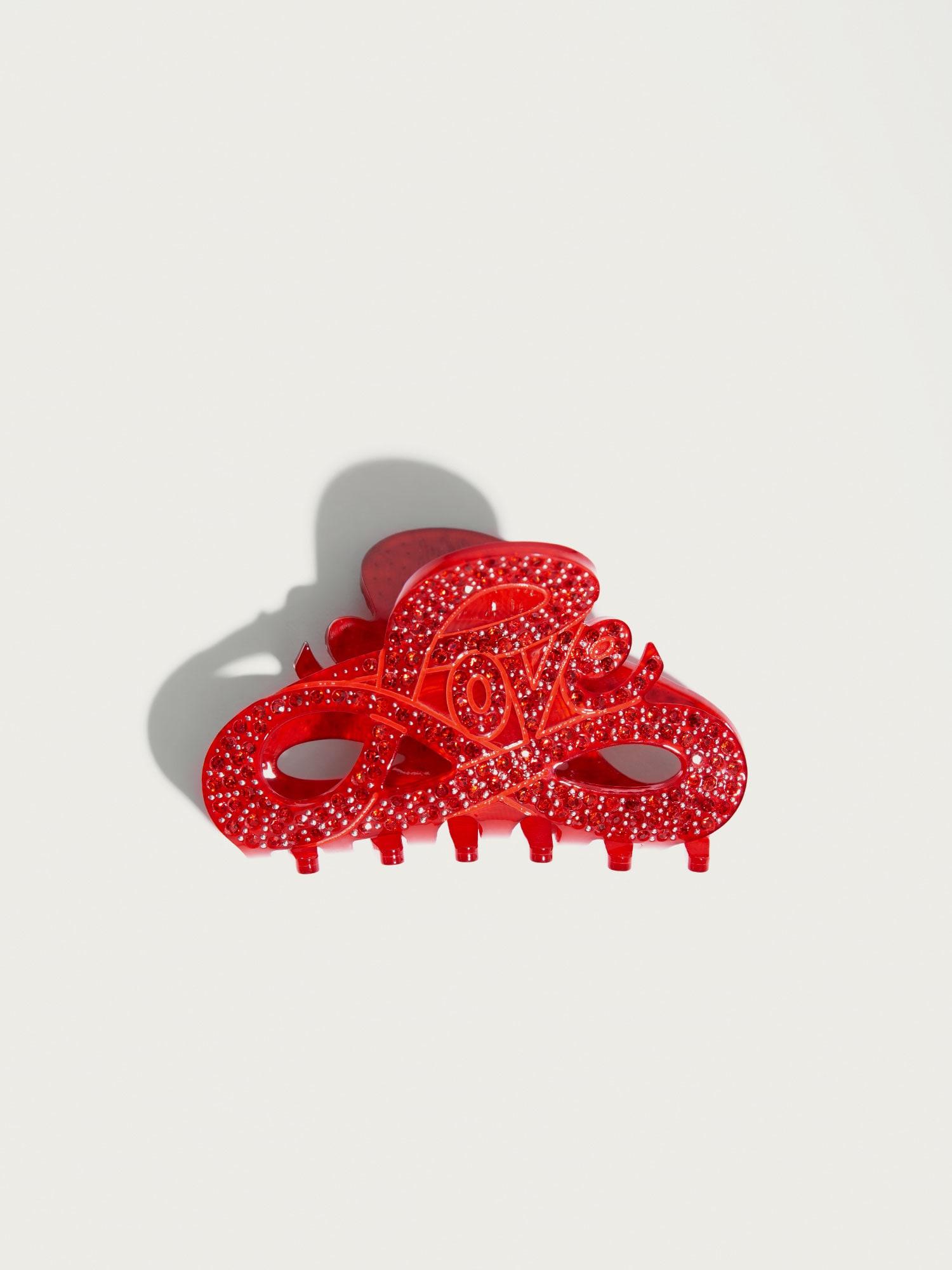Šperky do vlasů Love červená stříbrná Pico For EDITED