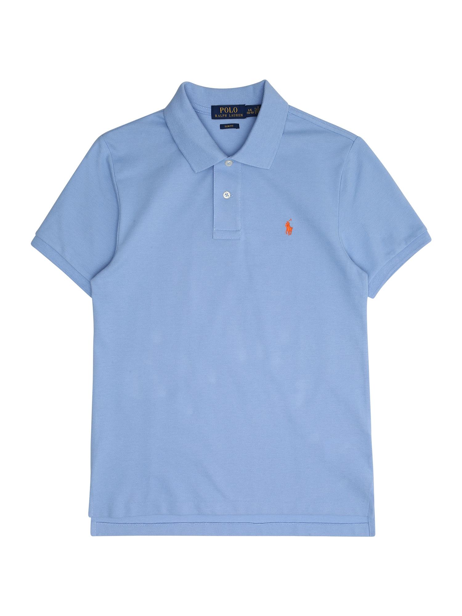 Tričko BASIC MESH nebeská modř POLO RALPH LAUREN