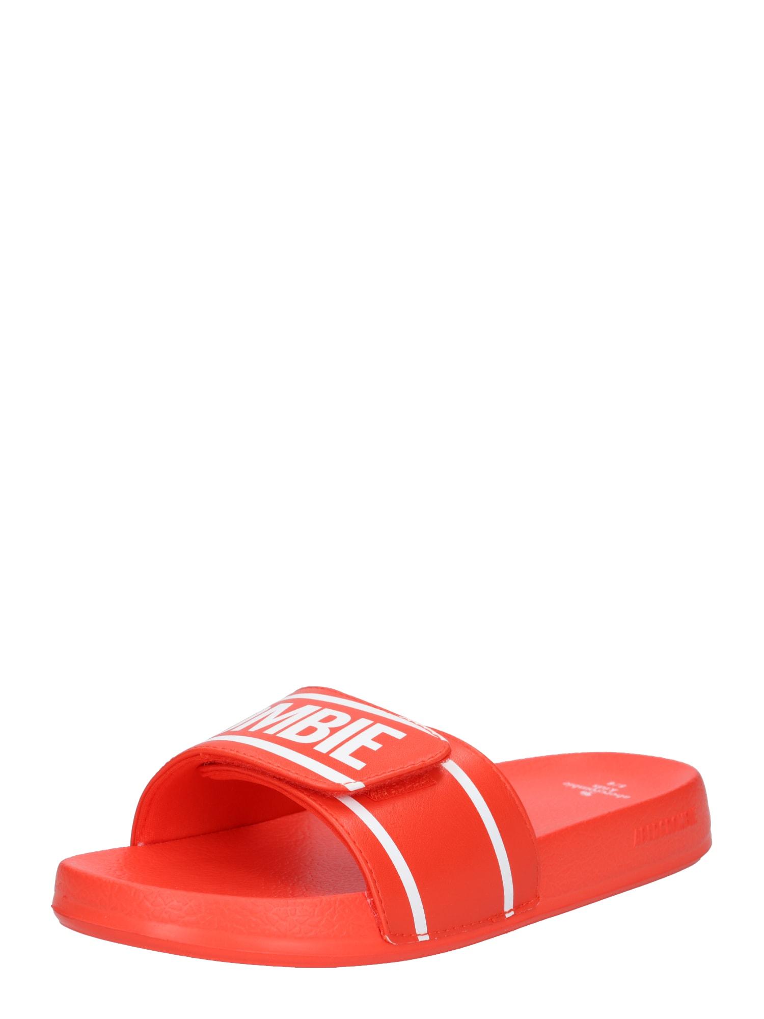 Plážovákoupací obuv červená Abercrombie & Fitch