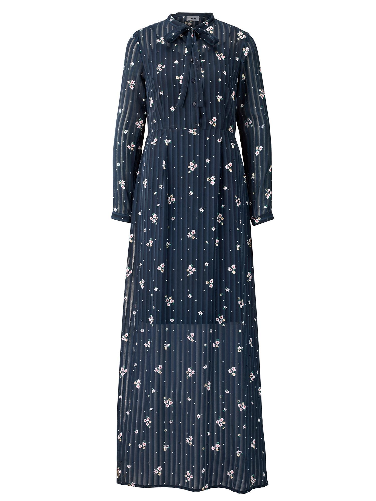 Šaty noční modrá bílá Heine