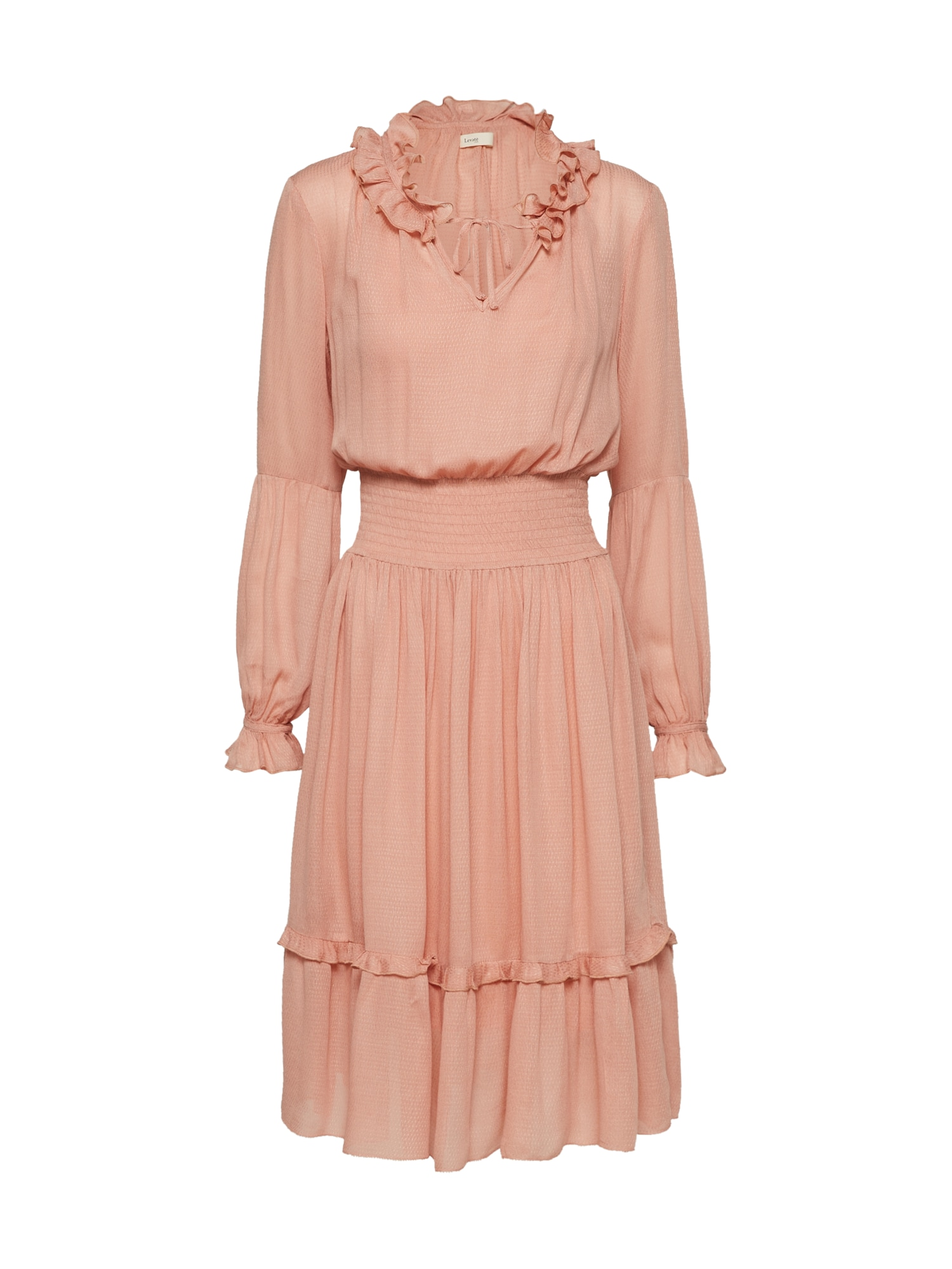 Košilové šaty meruňková růžová Levete Room