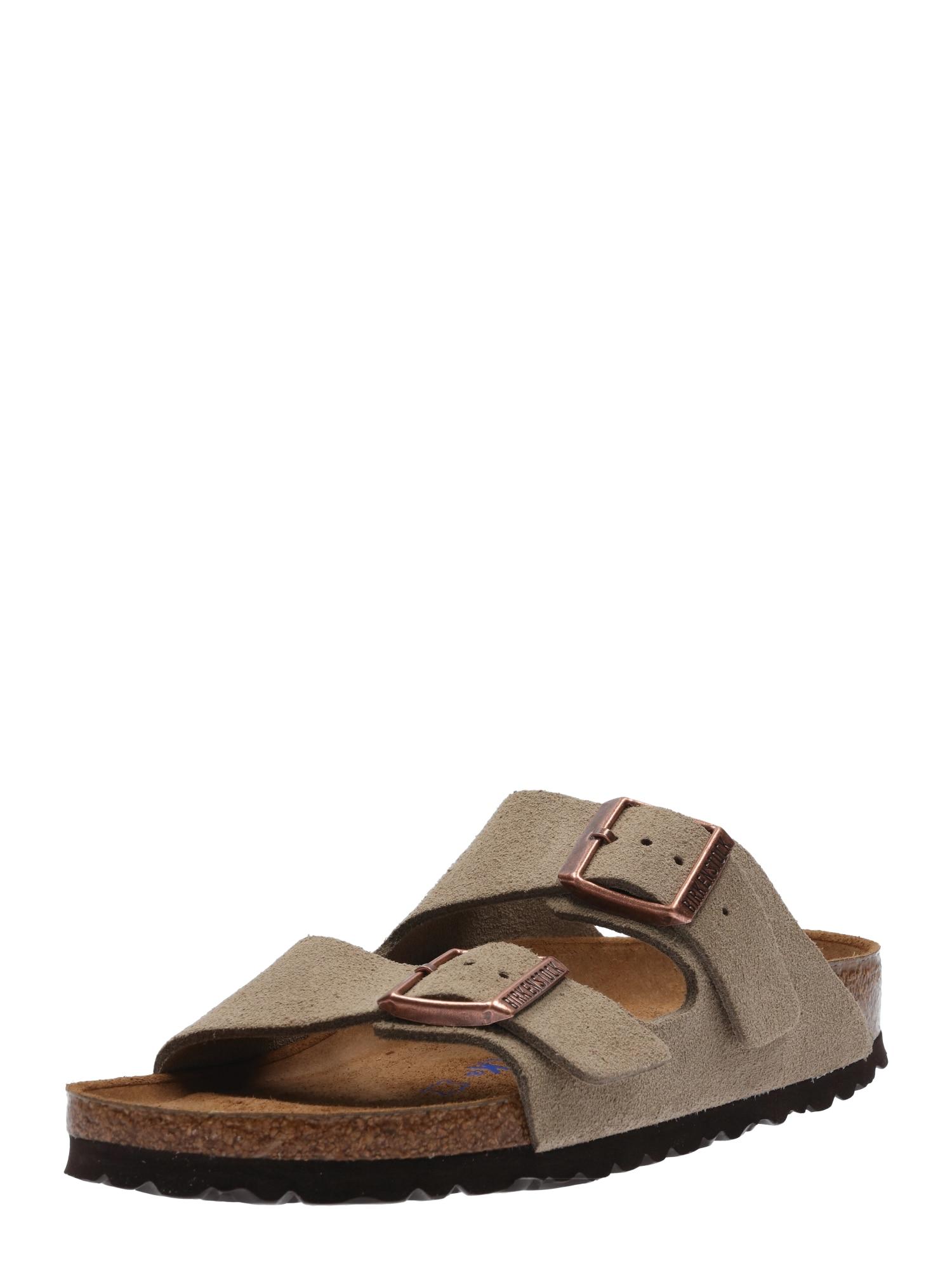 Pantofle Arizona Suede šedobéžová BIRKENSTOCK
