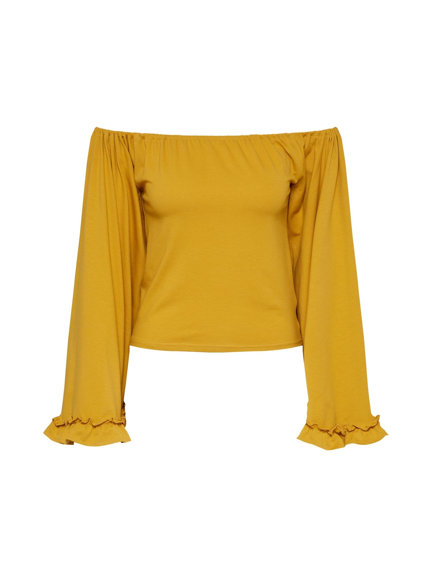 Tričko hořčicová GLAMOROUS