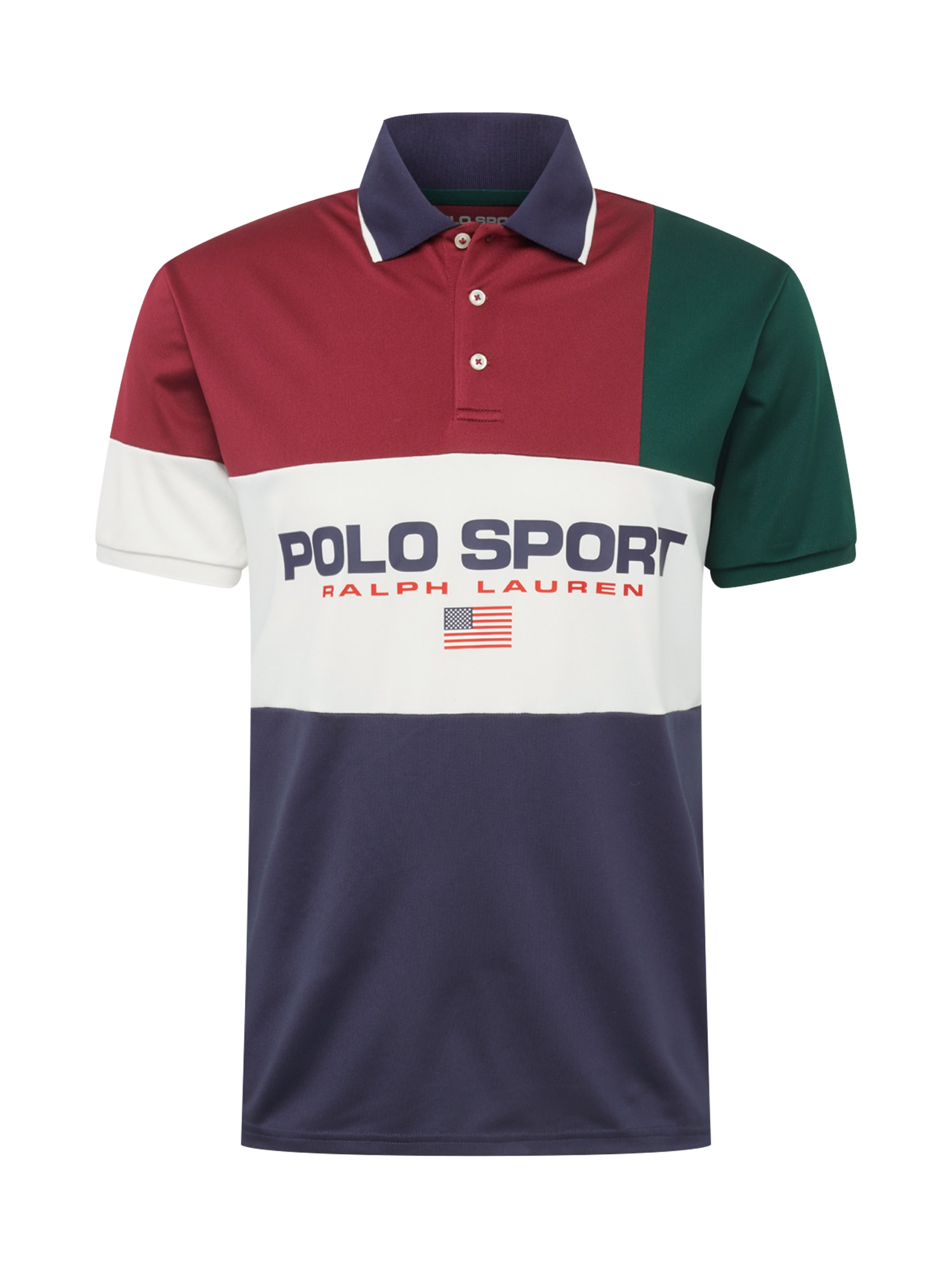Tričko TECH PIQUE-SSL-KNT námořnická modř tmavě zelená vínově červená bílá POLO RALPH LAUREN