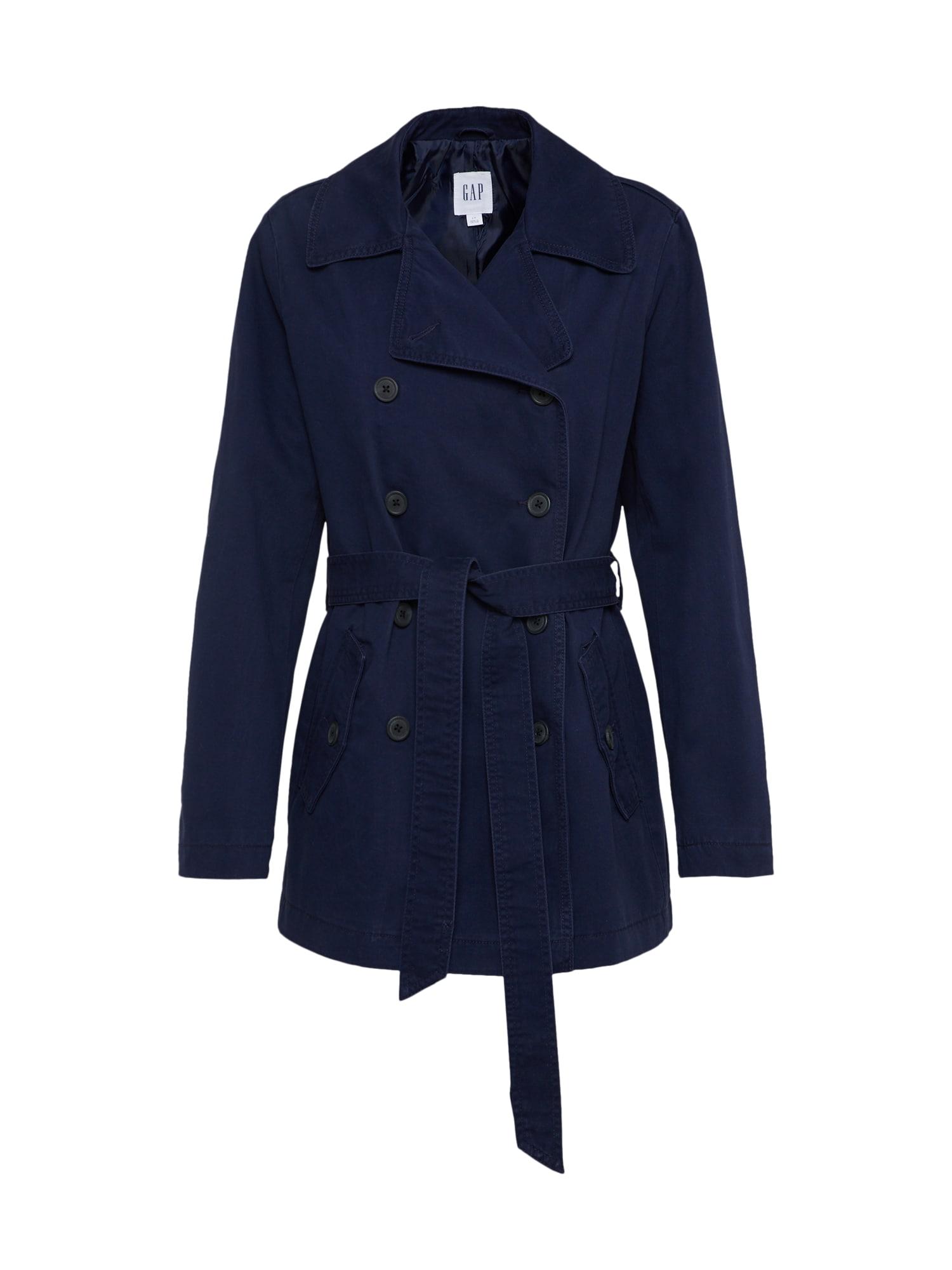Přechodný kabát V-CLASSIC TRENCH námořnická modř GAP