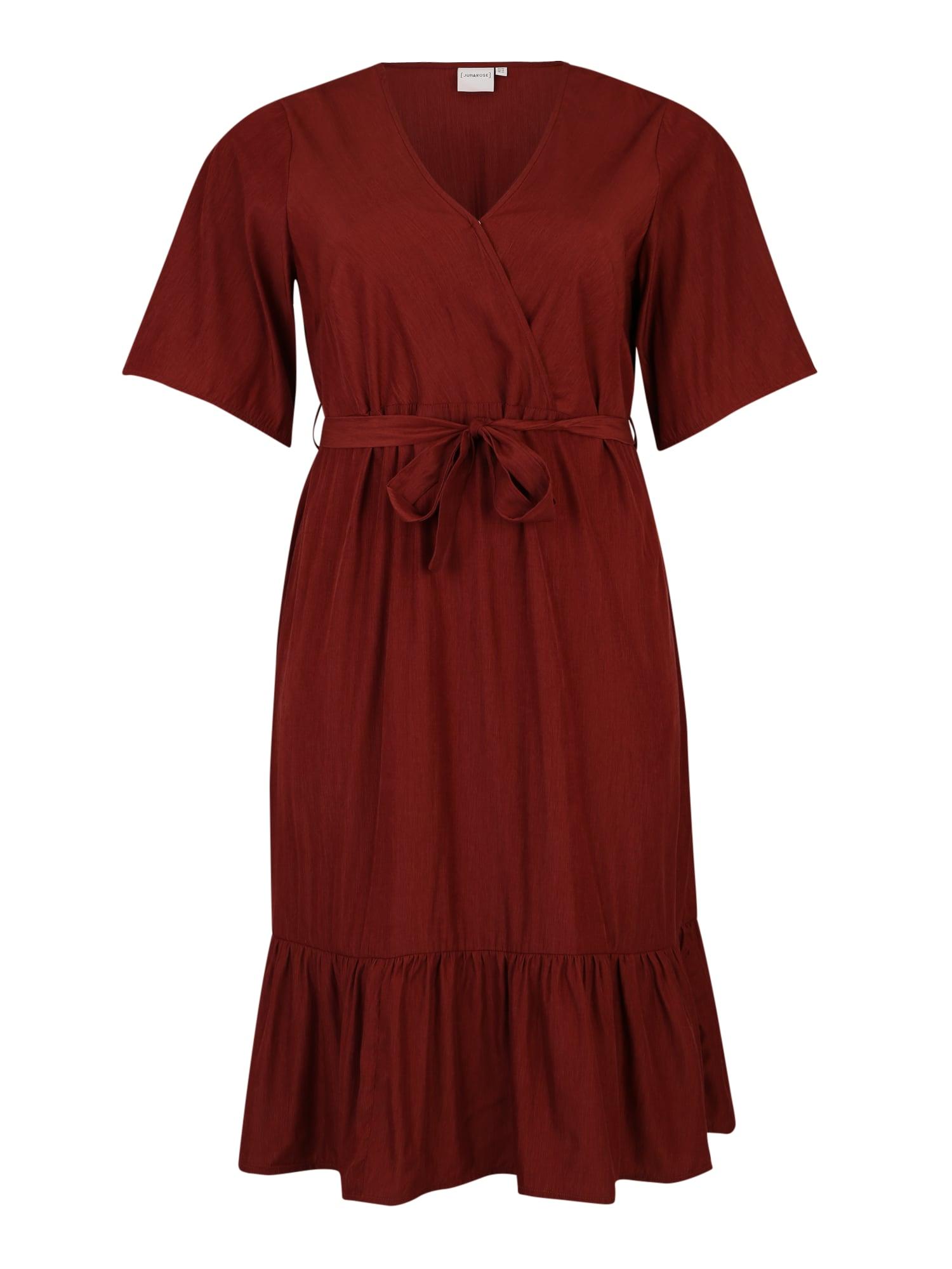 Letní šaty Palisa rubínově červená Junarose