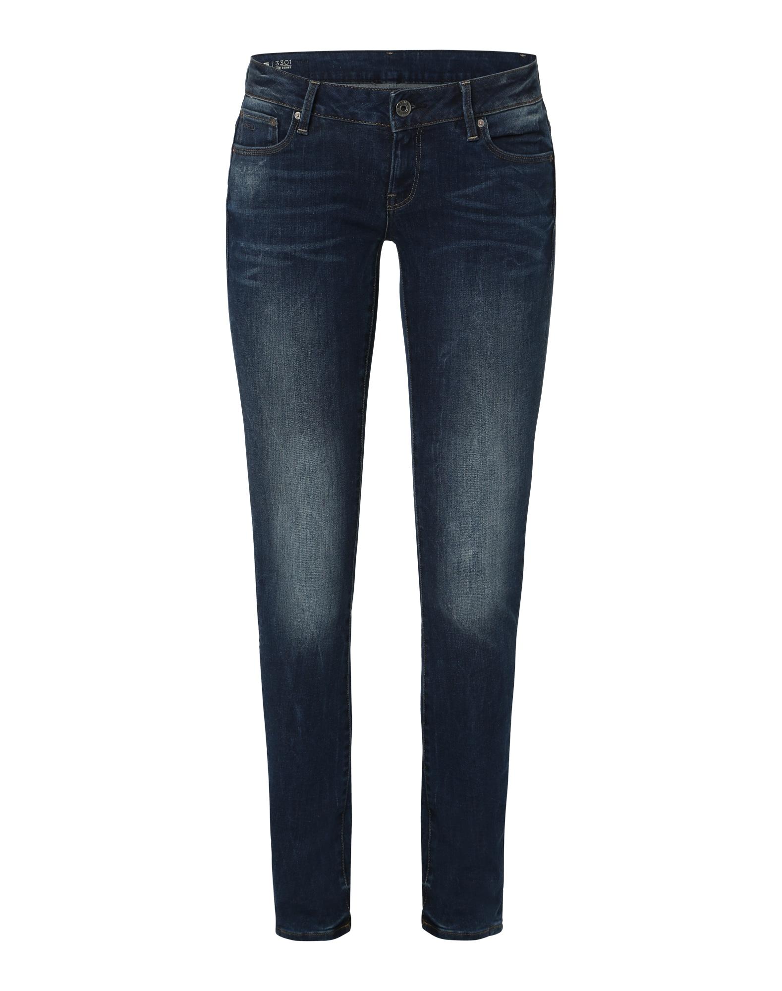 G-STAR RAW Dames Jeans 3301 Low Waist blue denim