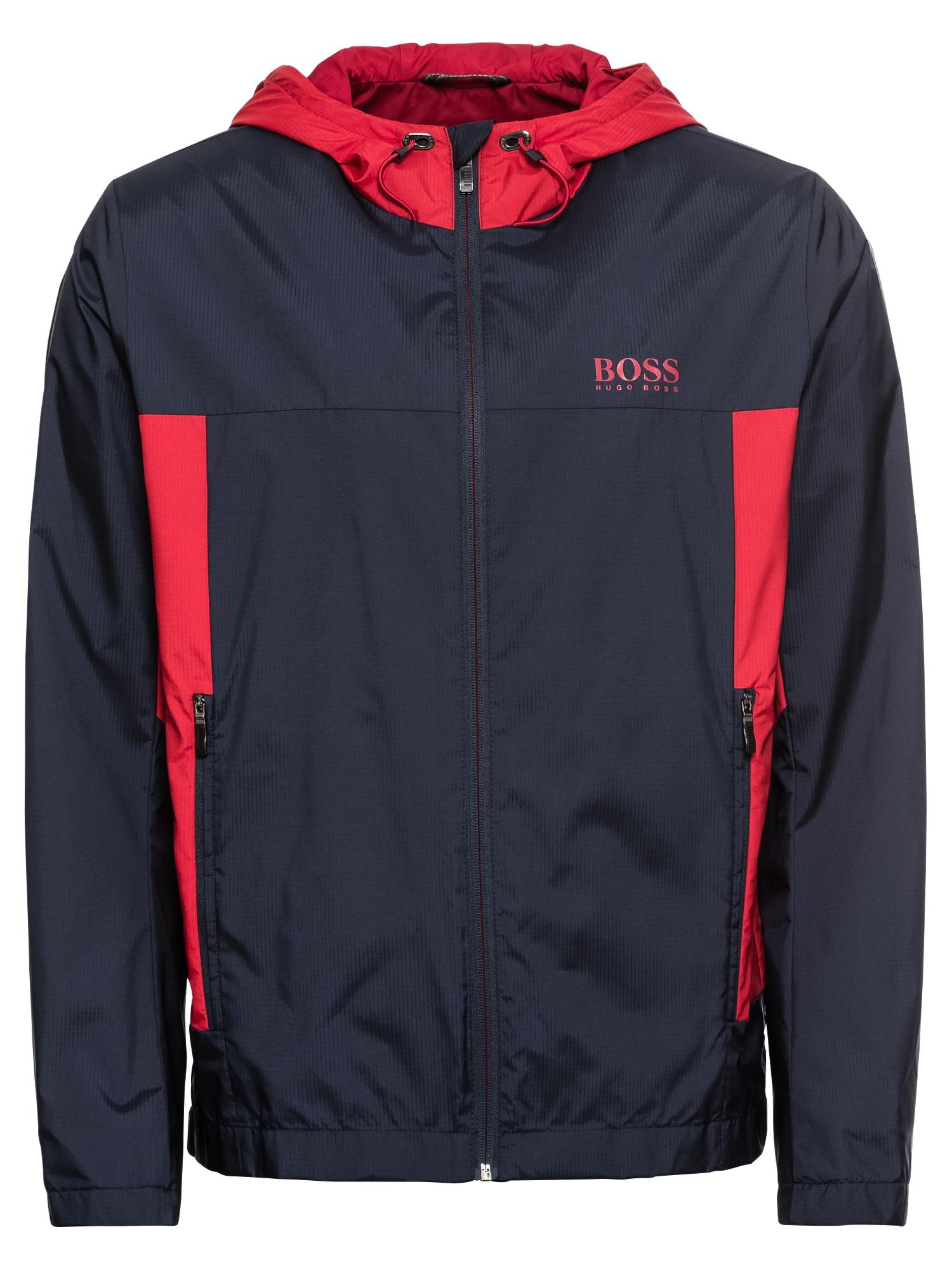 Přechodná bunda Jeltech námořnická modř červená BOSS