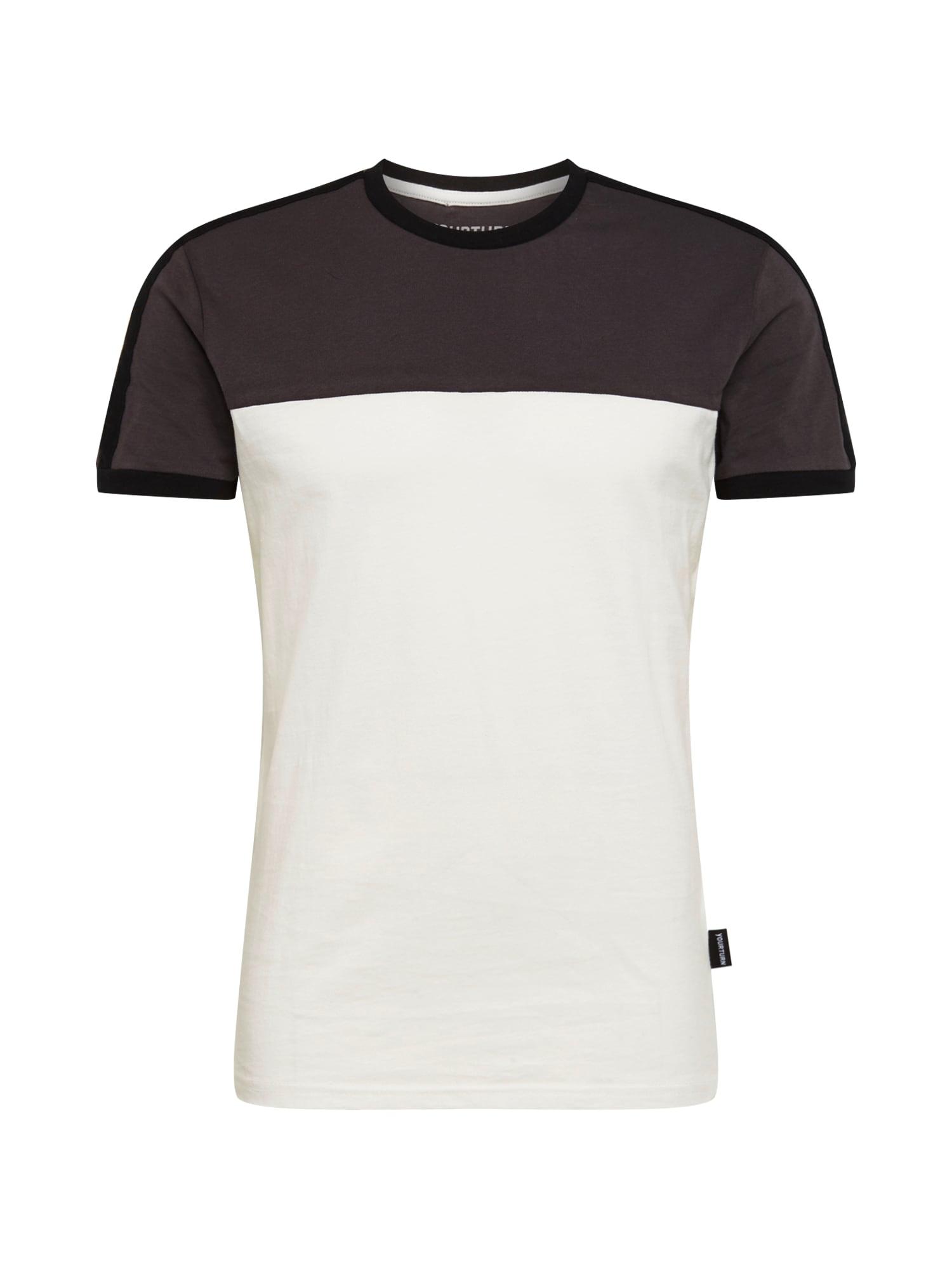 Tričko šedá bílá YOURTURN