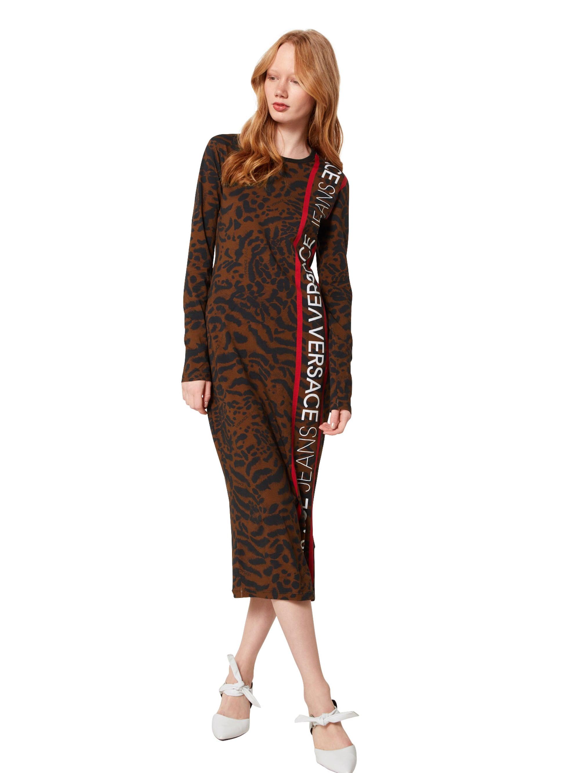 Versace Jeans Sukienka 'SDP917 33'  brązowy / czerwony / czarny