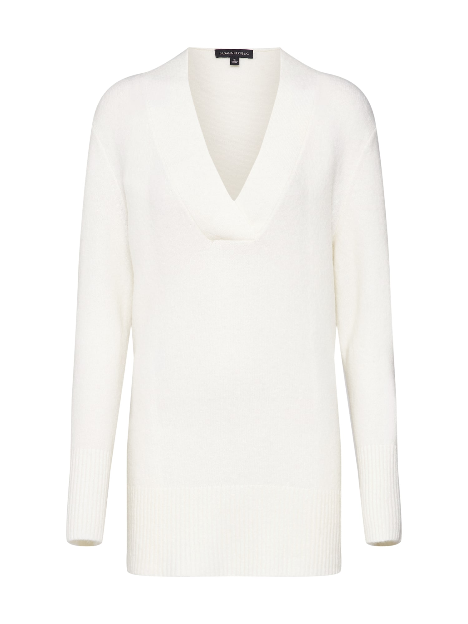 Svetr FLUFFY VEE TUNIC offwhite Banana Republic