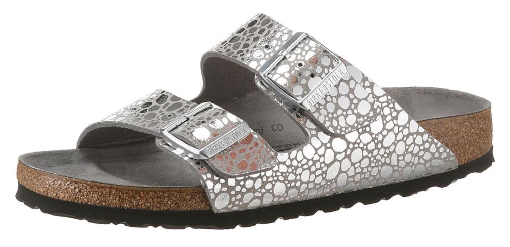 Pantolette 'Arizona'   Schuhe   Silber   Birkenstock