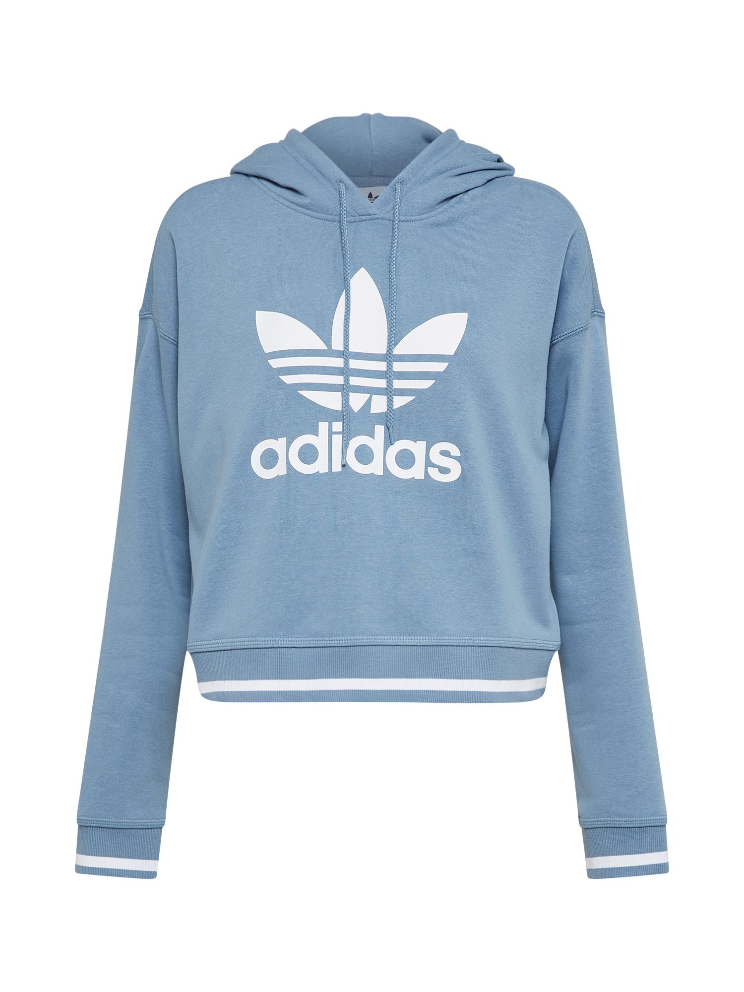 ADIDAS ORIGINALS, Dames Sweatshirt, smoky blue / wit