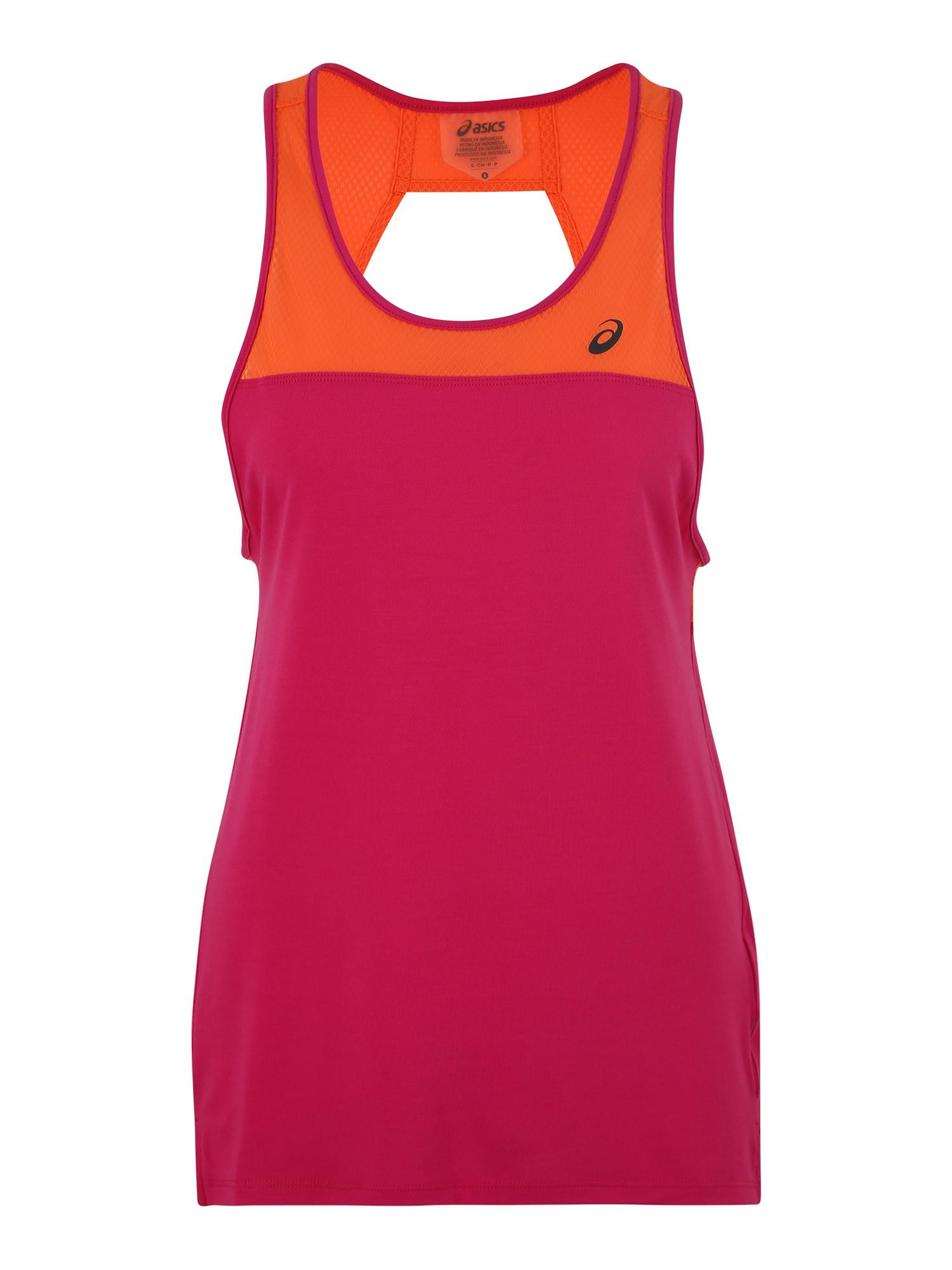 Sportovní top oranžová pink ASICS