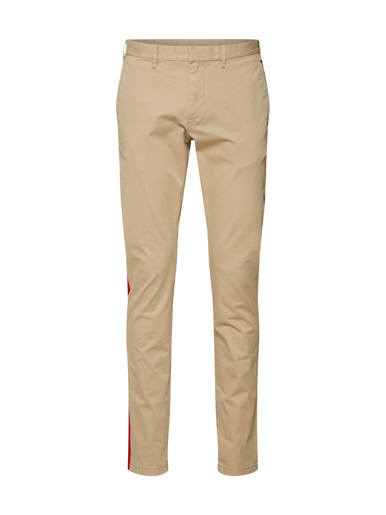 Chino kalhoty LEWIS HAMILTON béžová světle červená TOMMY HILFIGER
