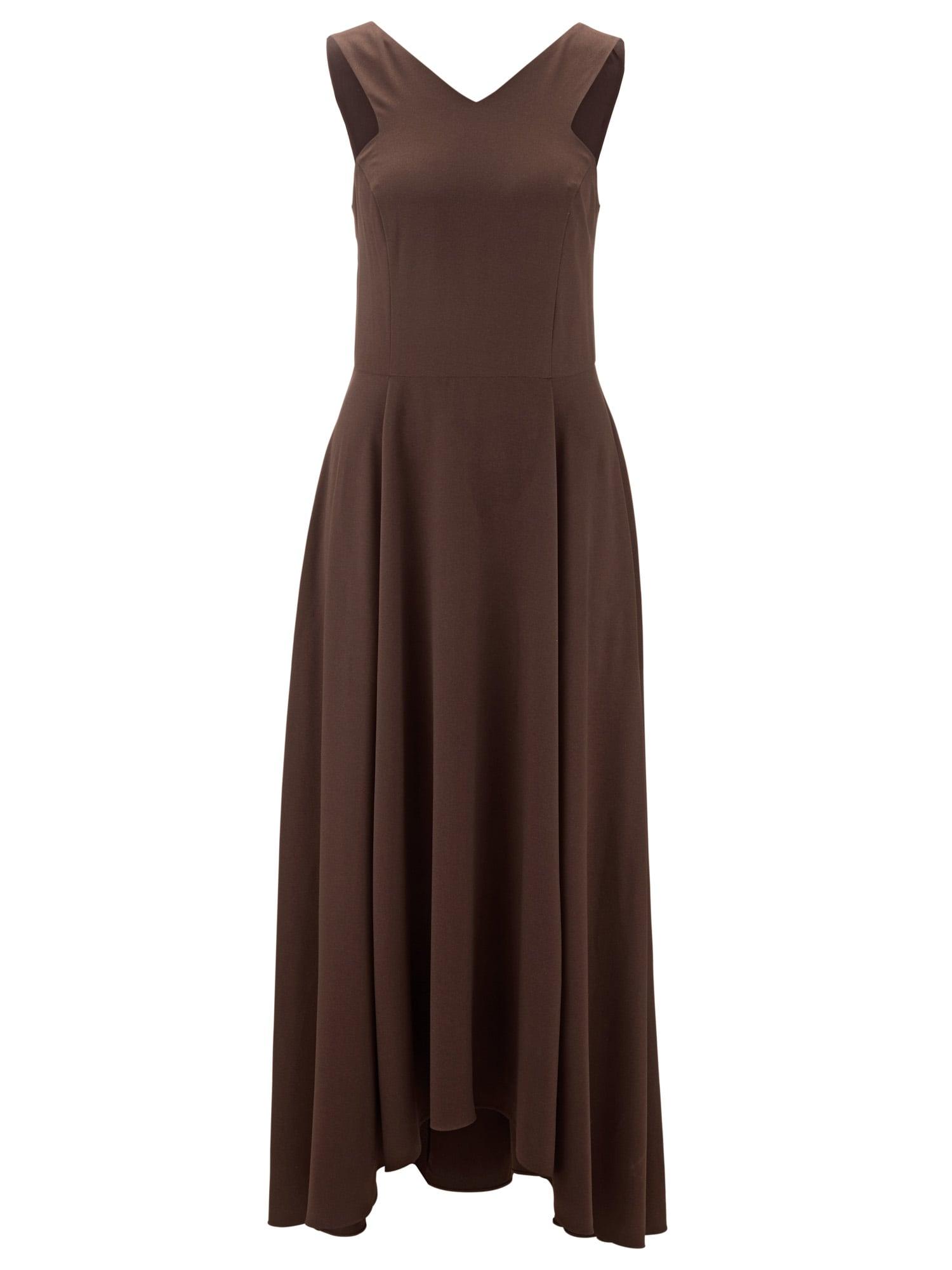 Šaty tmavě hnědá Heine