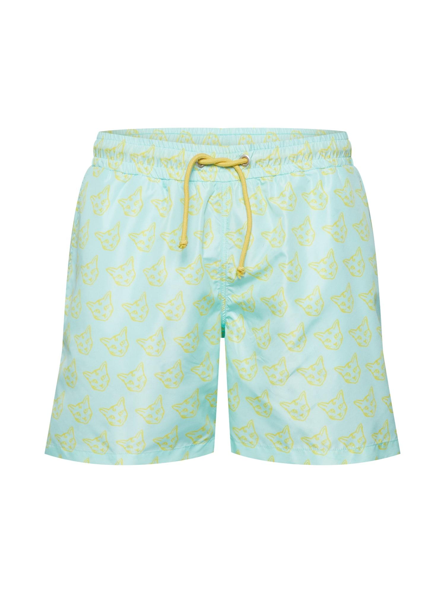 Plavecké šortky Taylor tyrkysová žlutá ABOUT YOU X PARI
