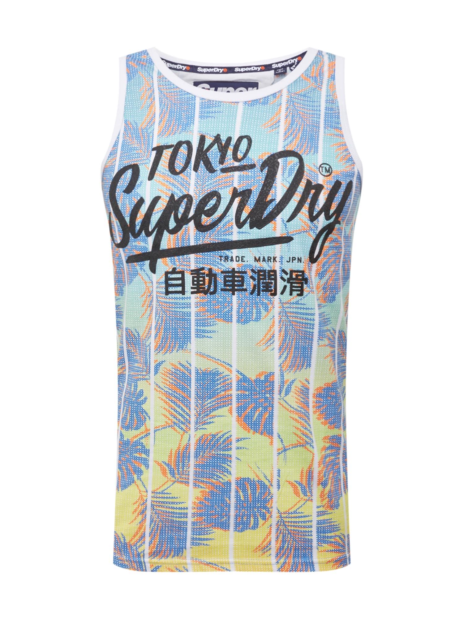 Tričko TICKET TYPE INFILL VEST mix barev Superdry