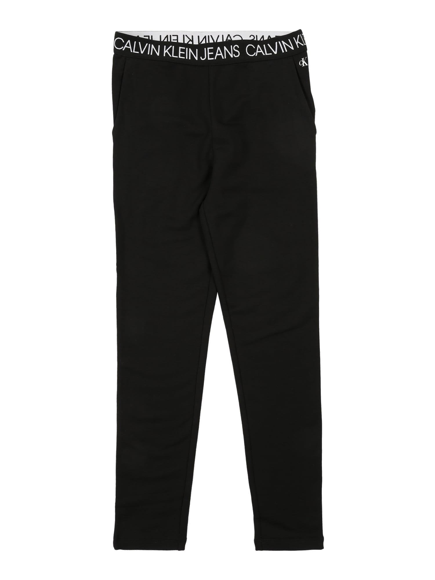 Calvin Klein Jeans Legíny 'LOGO WAISTBAND PANTS'  černá