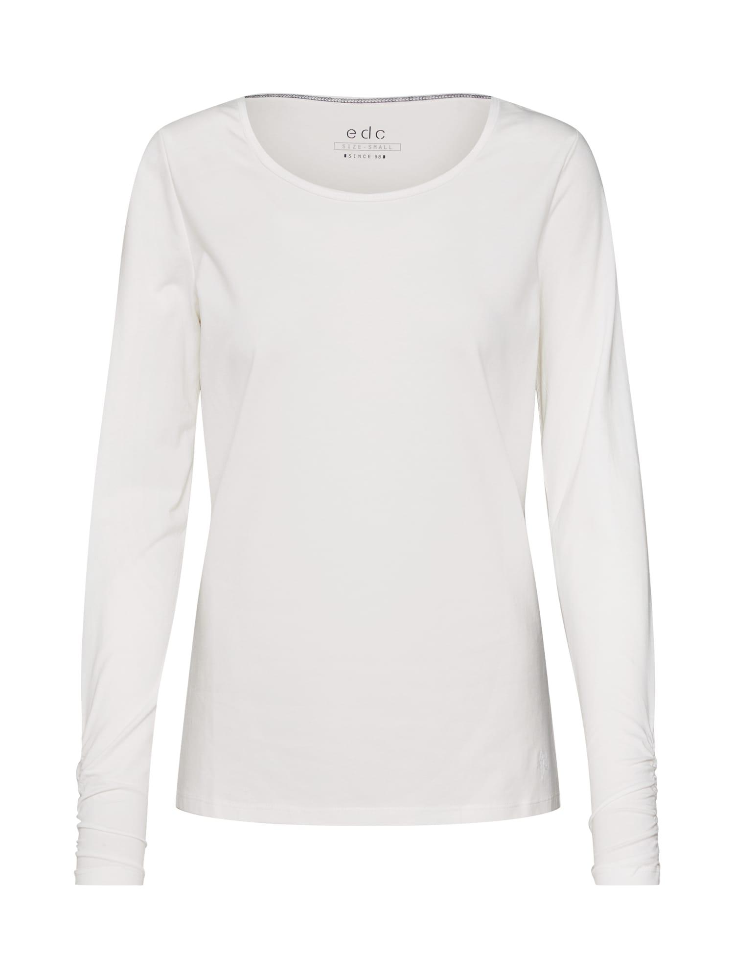 Tričko FLOW gathering T-Shirts přírodní bílá EDC BY ESPRIT