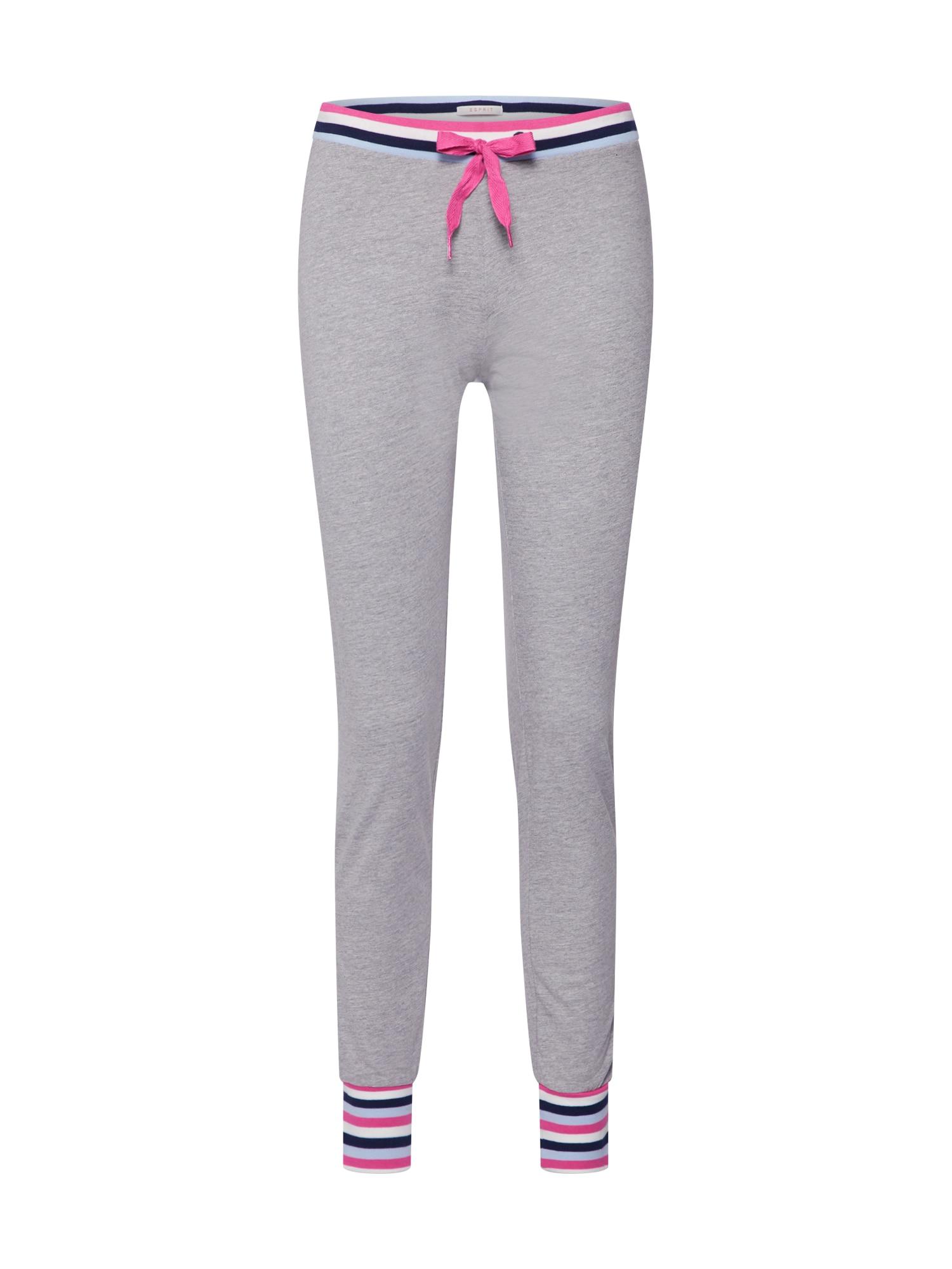 Pyžamové kalhoty DANA CAS NW světle šedá ESPRIT