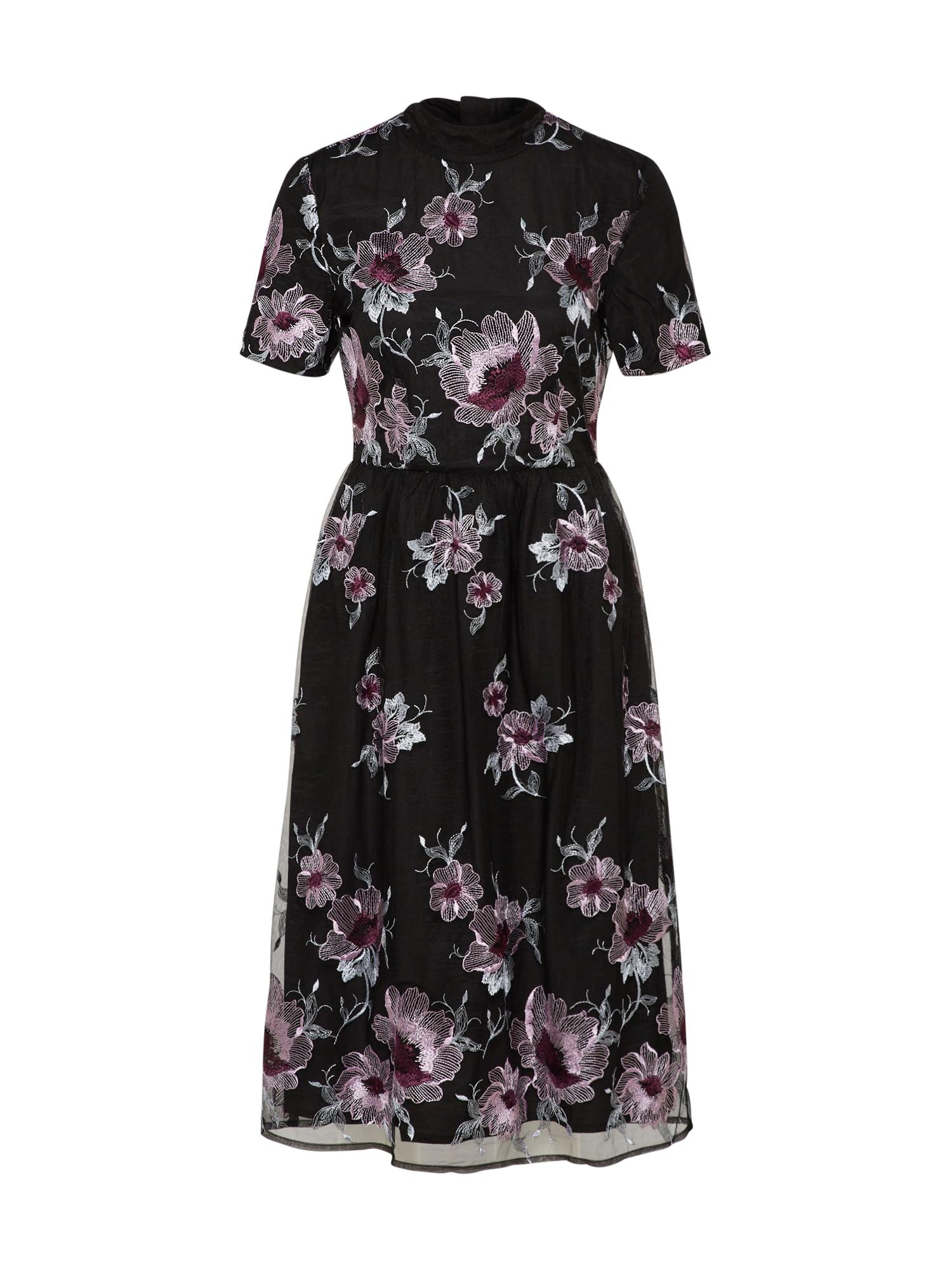 Společenské šaty světle fialová černá VILA