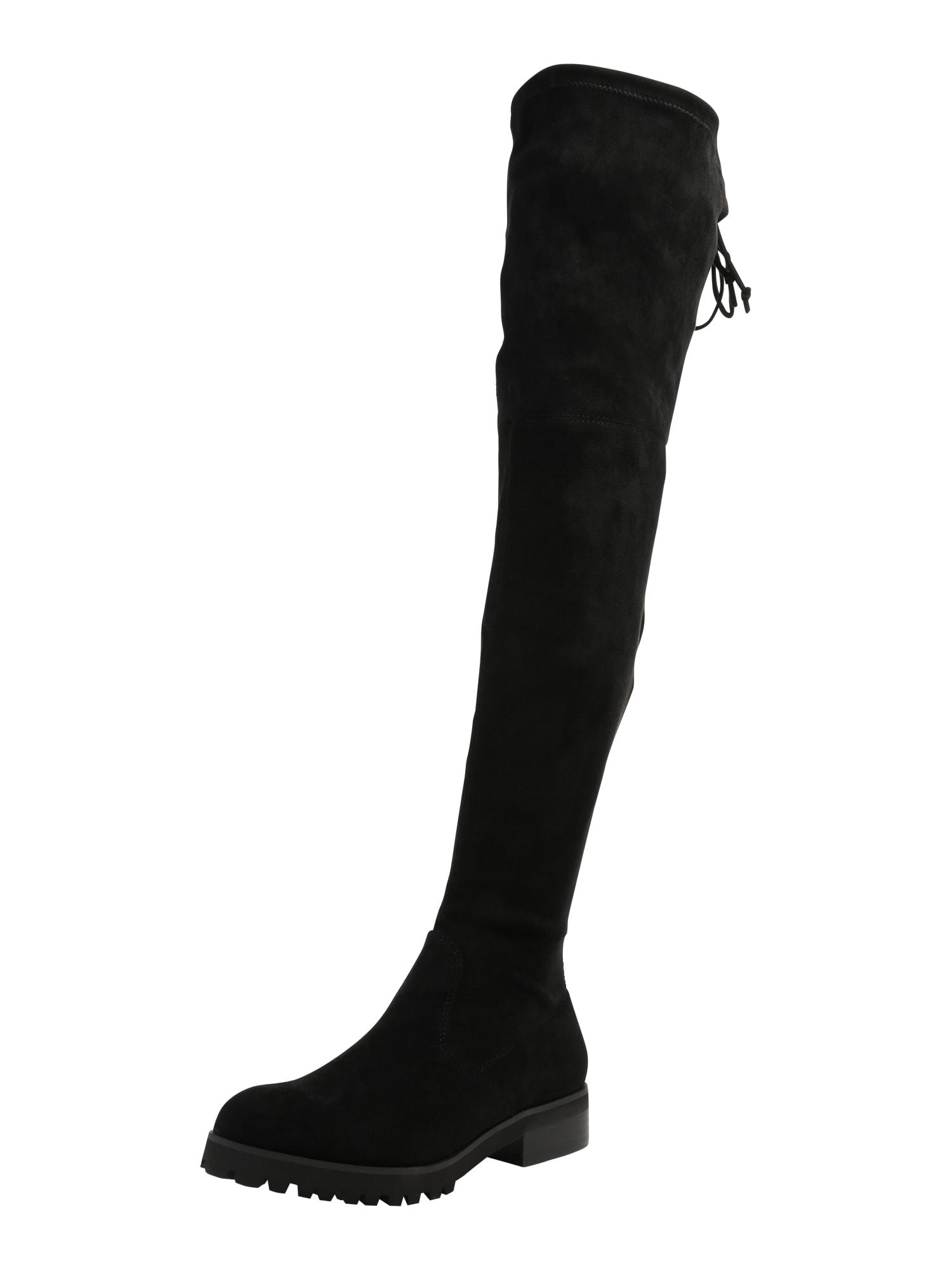 Kozačky nad kolena FLORY černá BUFFALO
