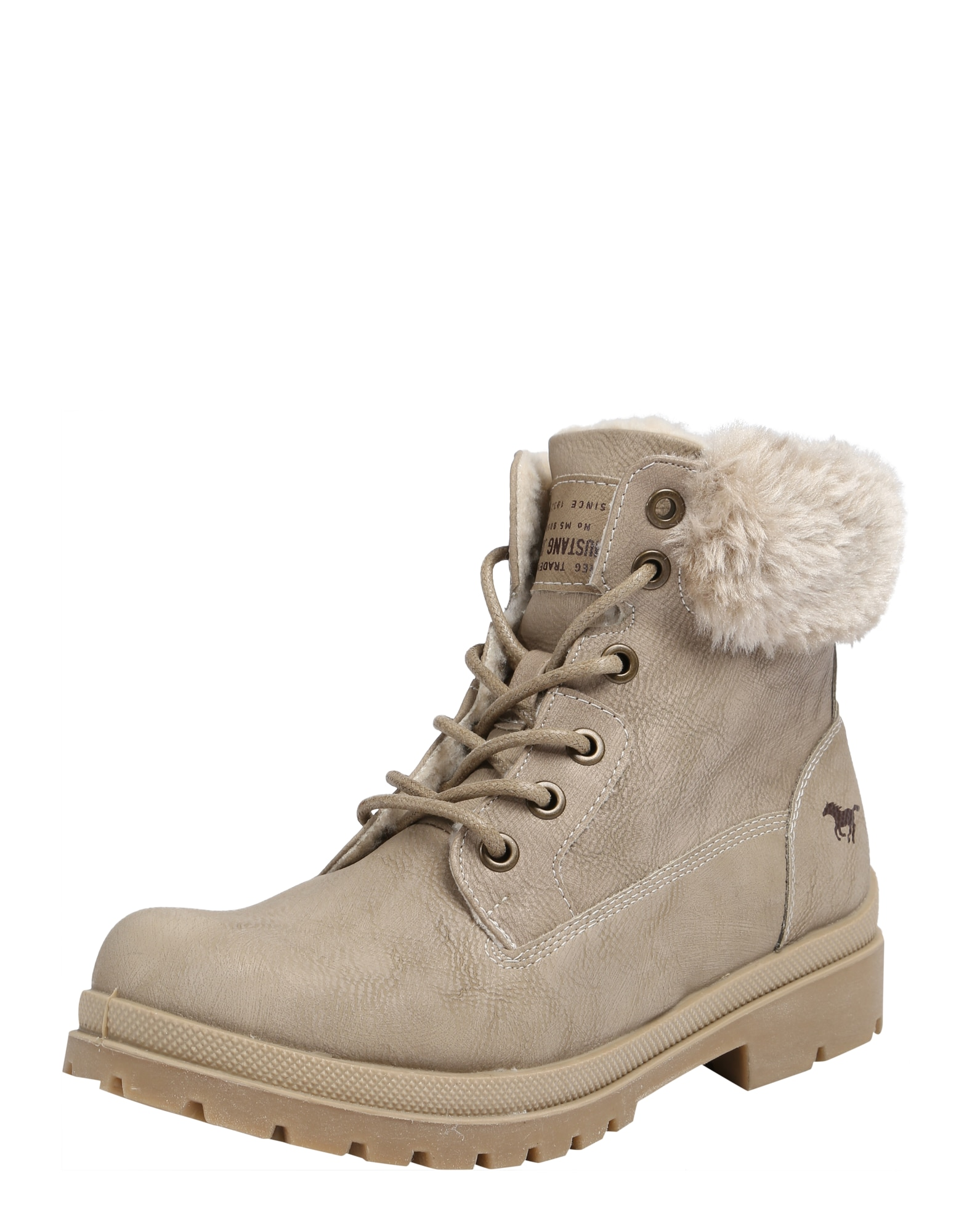 Šněrovací boty béžová MUSTANG