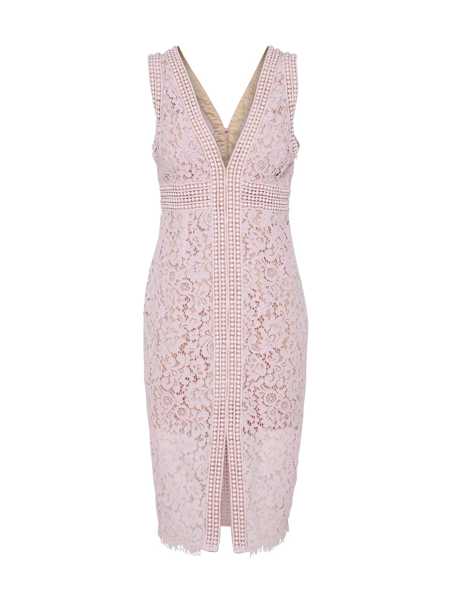 Koktejlové šaty MORGAN pudrová Bardot