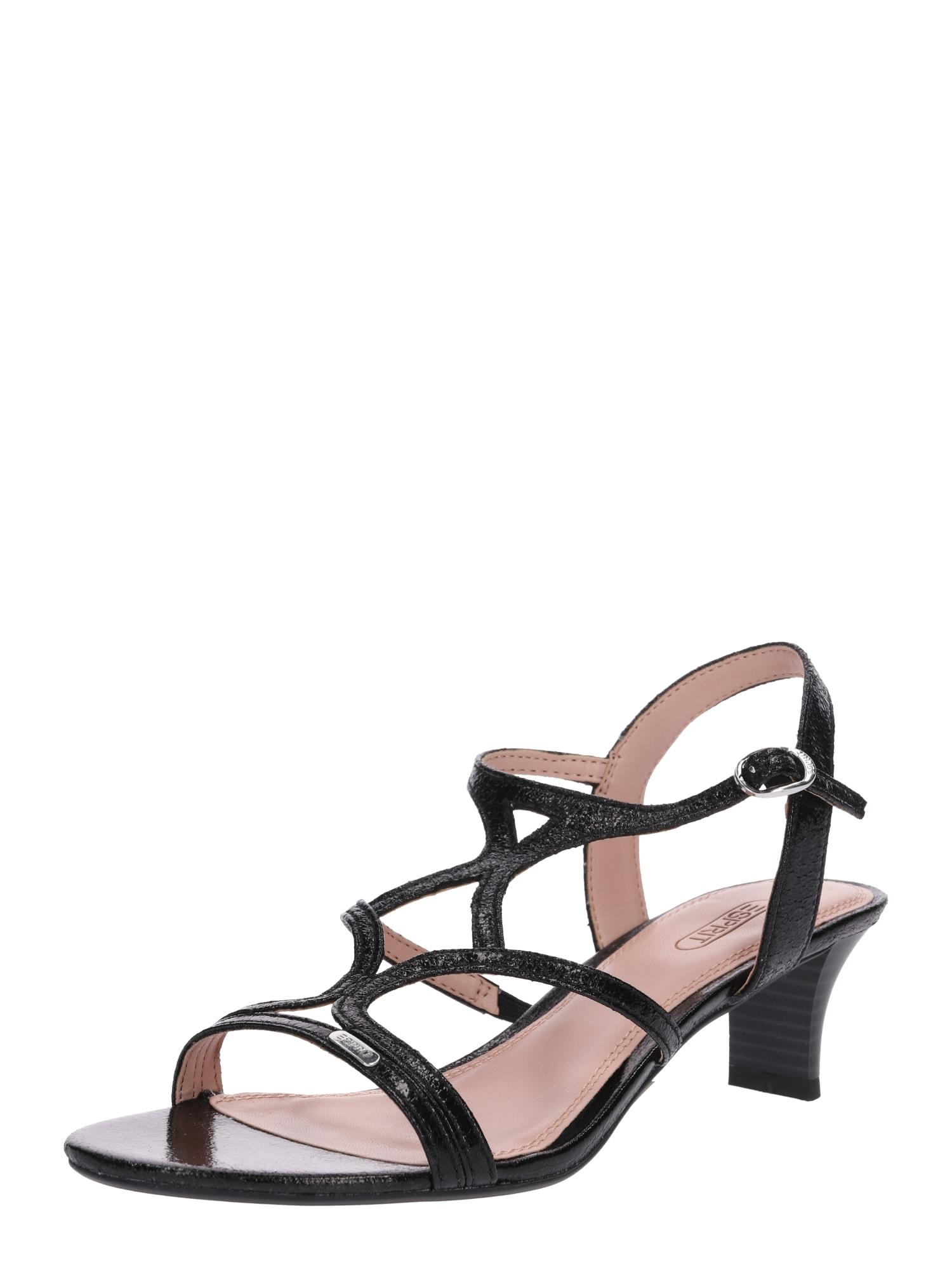 Páskové sandály Birkin X černá ESPRIT