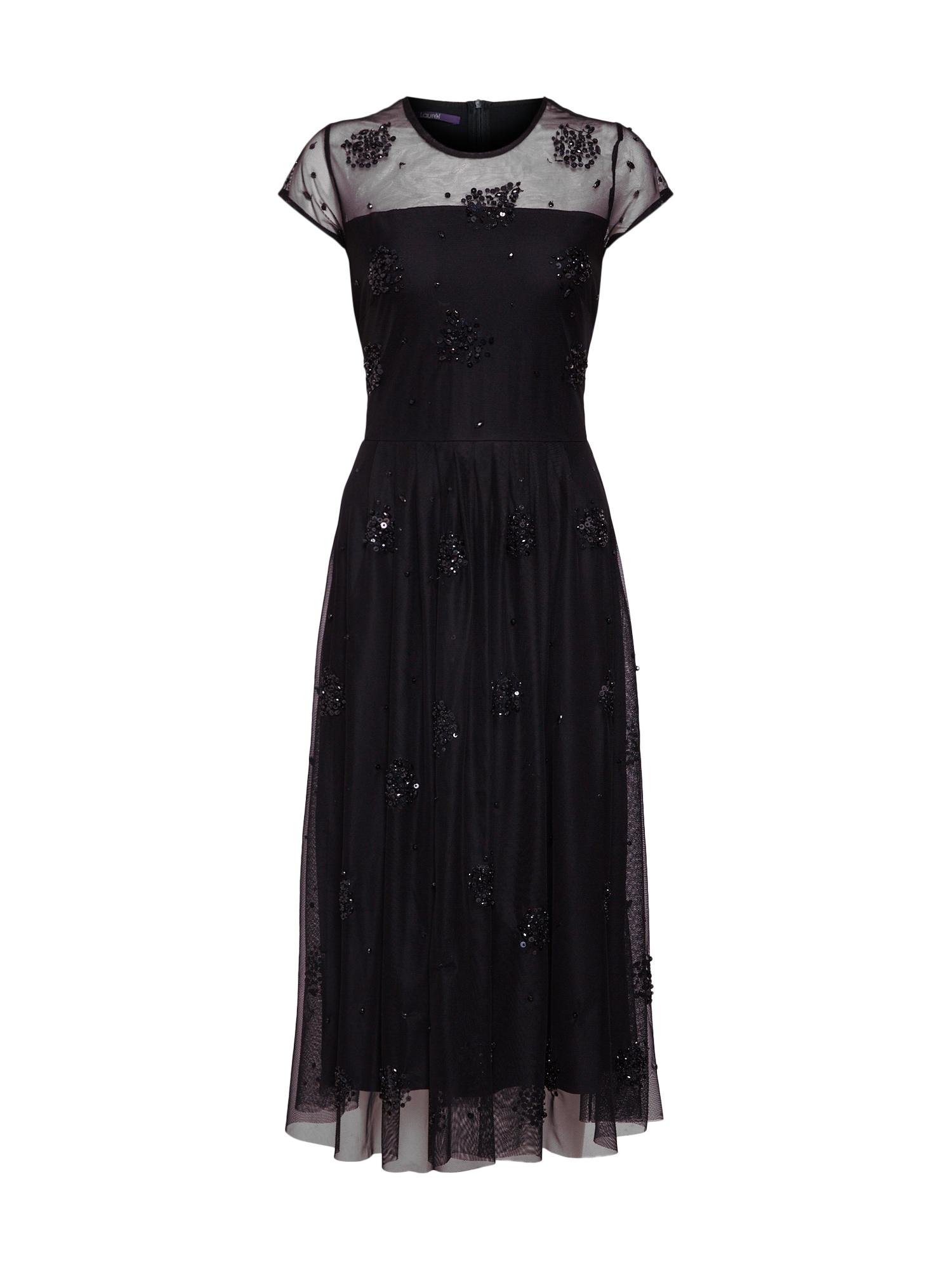 Společenské šaty 11027 černá LAUREL