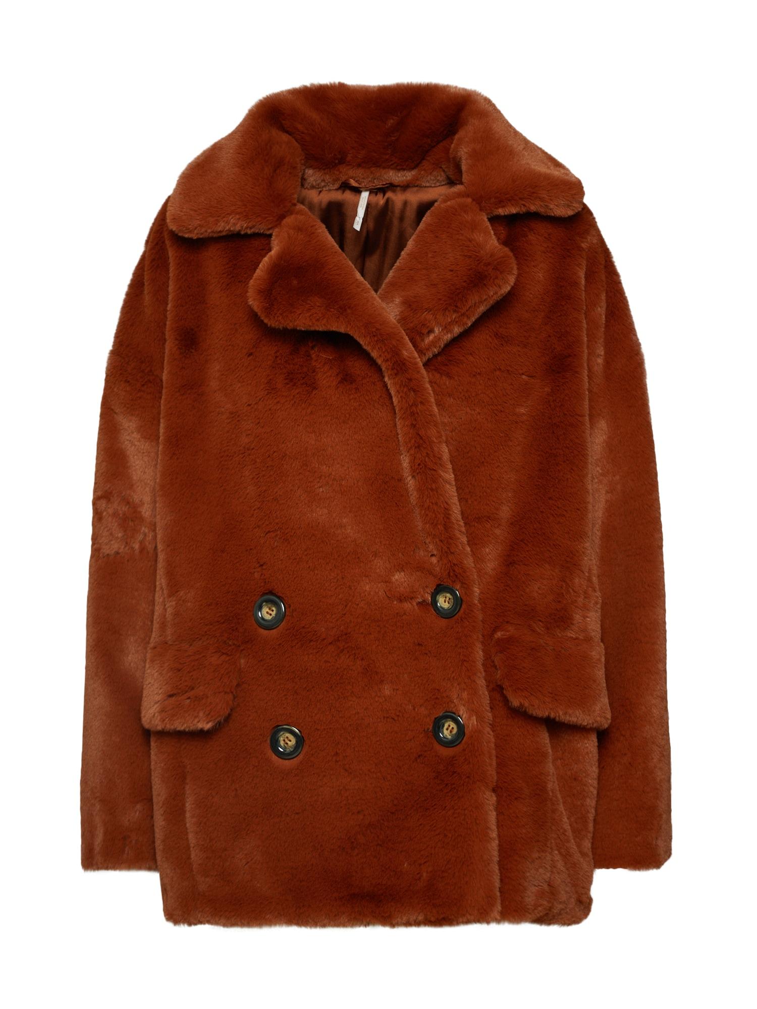 Zimní kabát Solid Kate rezavě hnědá Free People
