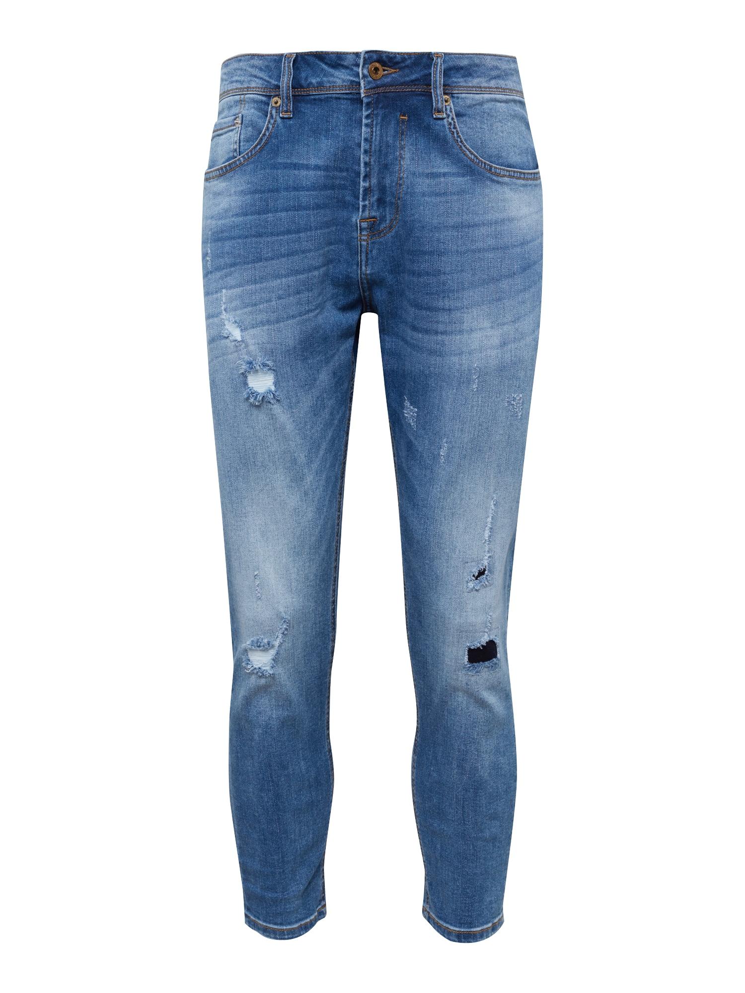 Džíny LOWCROTCH-FRANK BLUE1 modrá džínovina !Solid