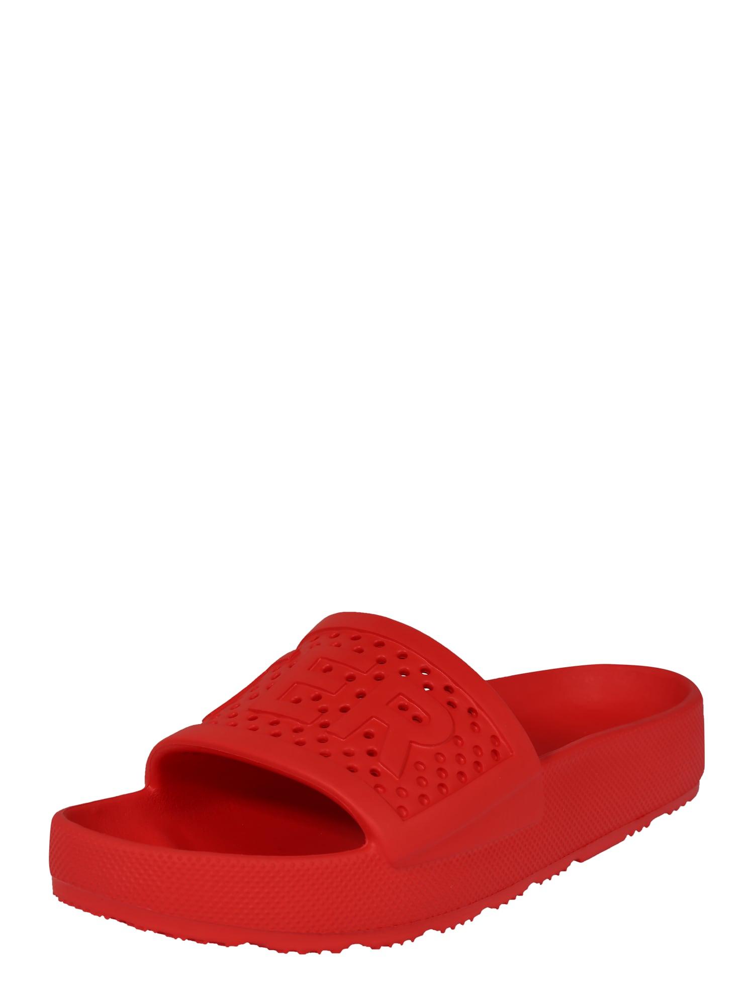 HUNTER Pantofle 'Womens Original light weight moulded slide'  černá / červená