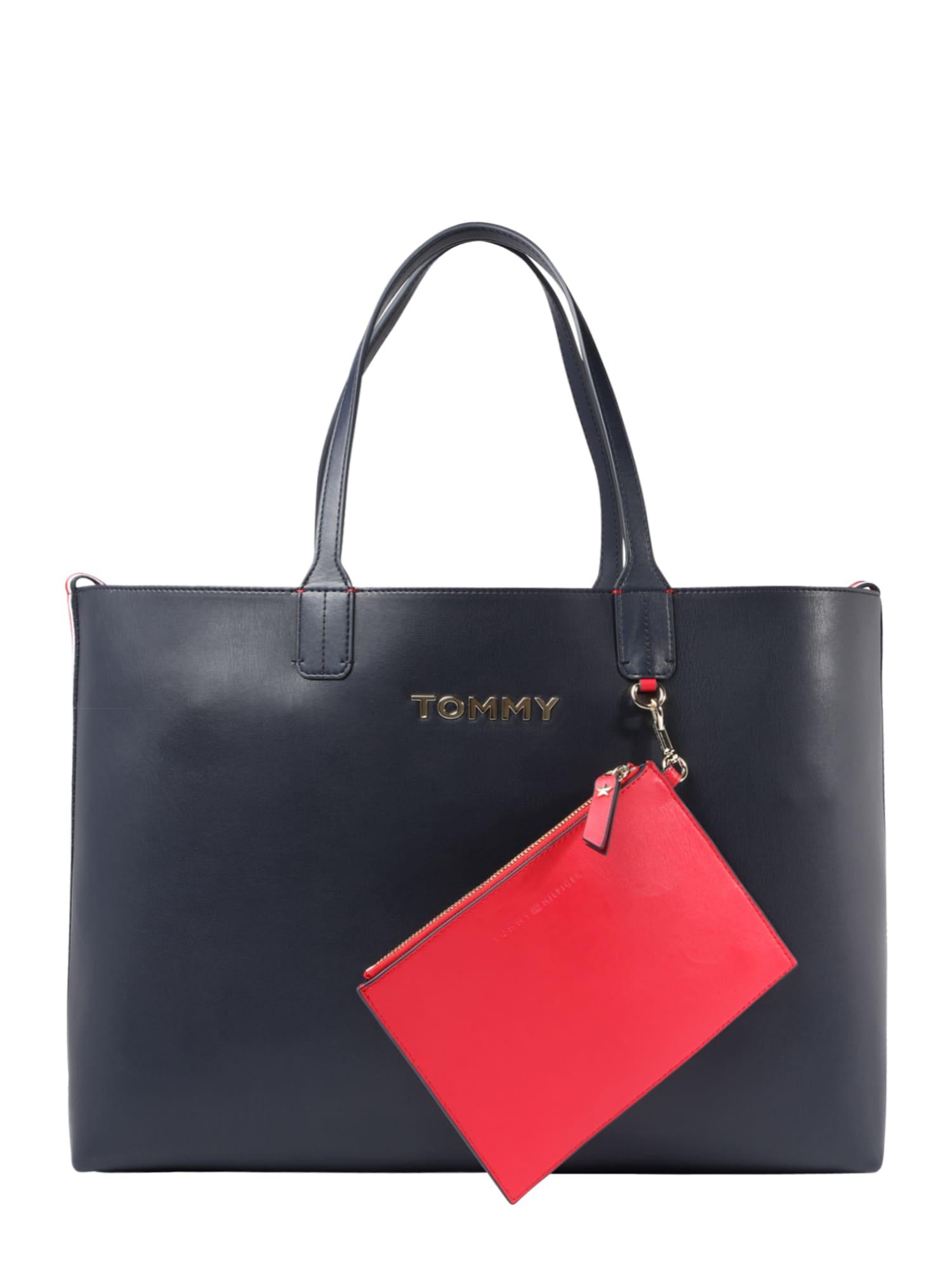 Nákupní taška Iconic Tommy Tote tmavě modrá červená TOMMY HILFIGER