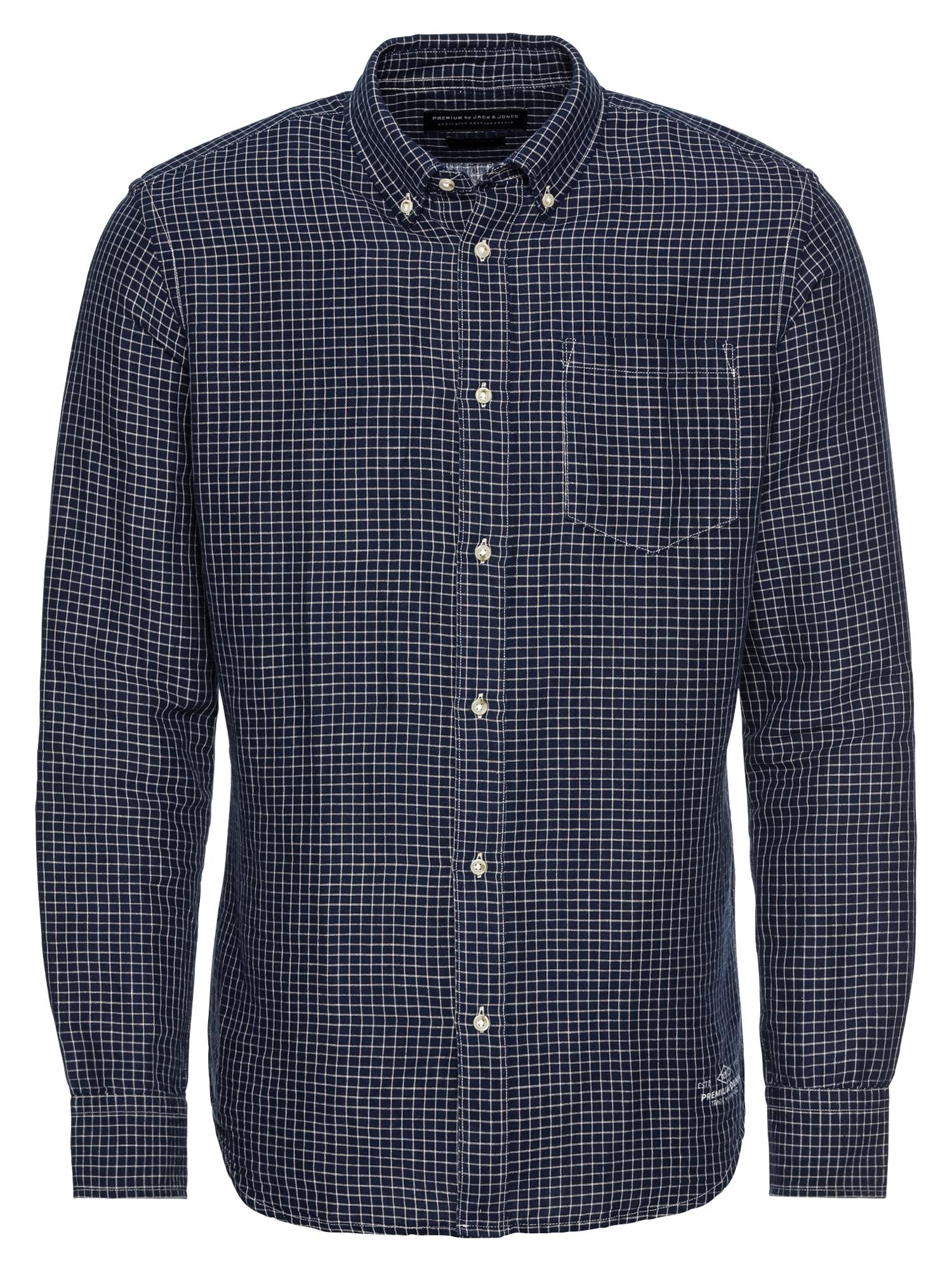 Košile JPRDANIEL námořnická modř bílá JACK & JONES