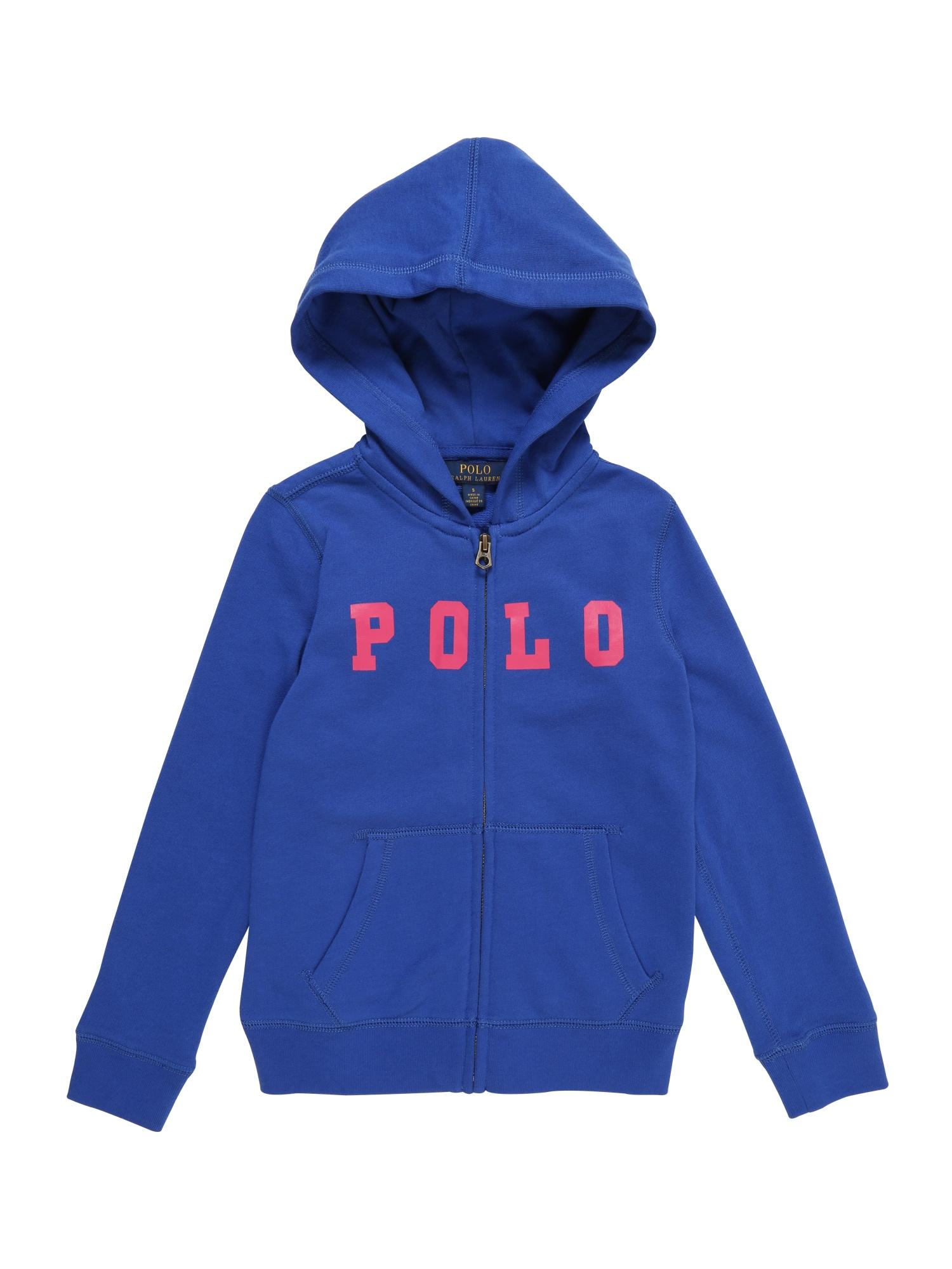 Mikina s kapucí ATLANTIC TERRY-POLO modrá POLO RALPH LAUREN