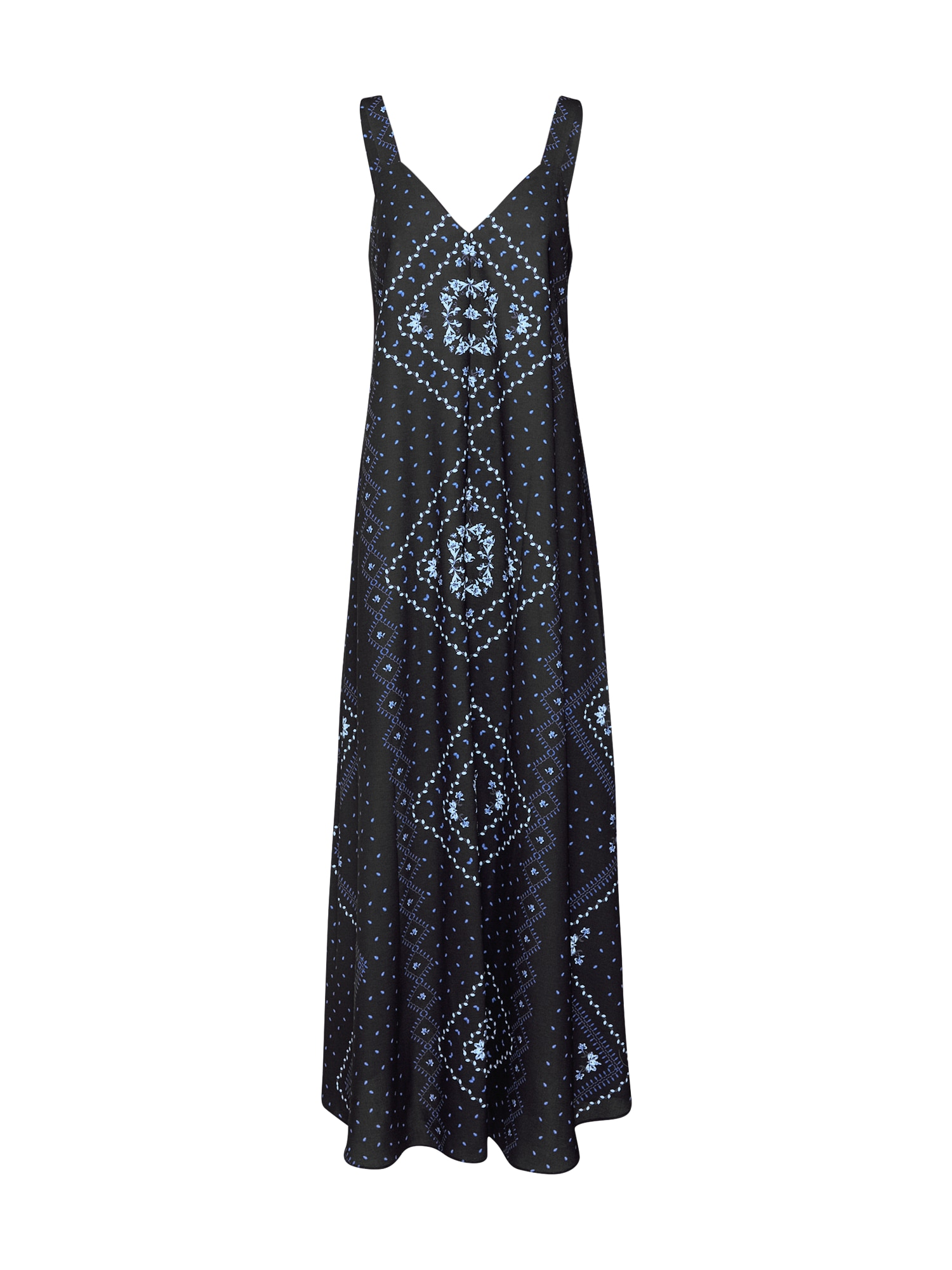 Šaty Annalie modrá černá bílá EDITED