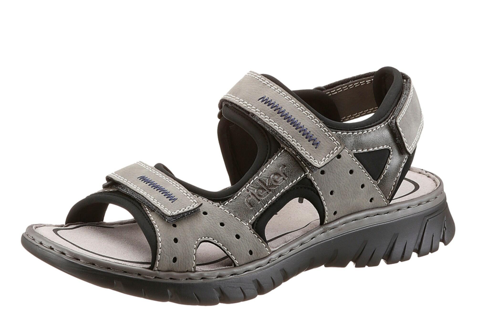 Trekingové sandály kouřově šedá RIEKER