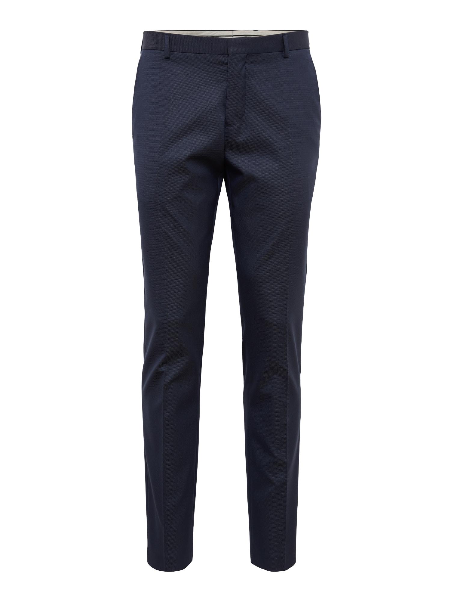 Kalhoty s puky SHDONE-MAZE DK. BLUE STRUCT. TRS NOOS námořnická modř SELECTED HOMME