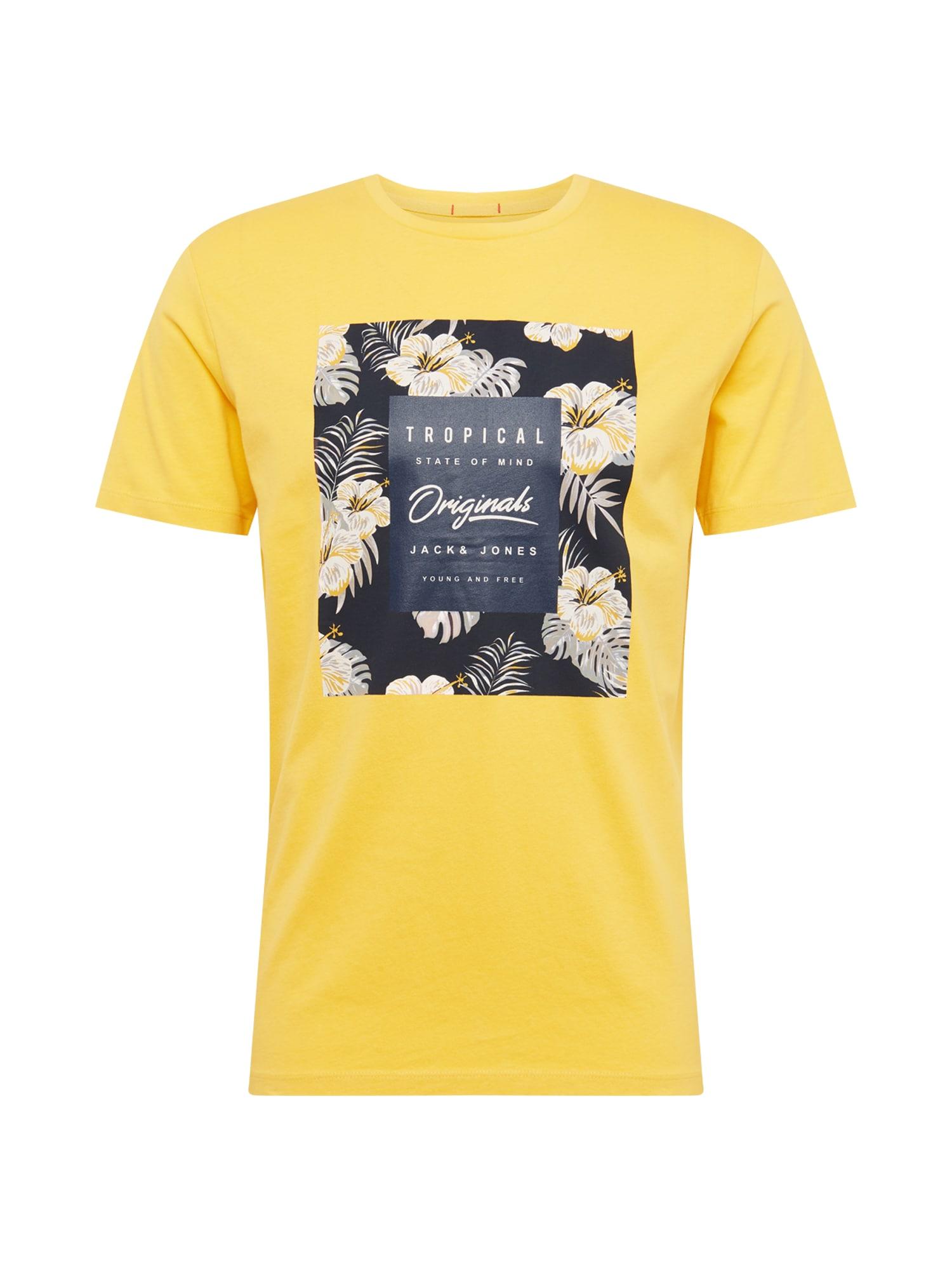 Tričko žlutá černá JACK & JONES