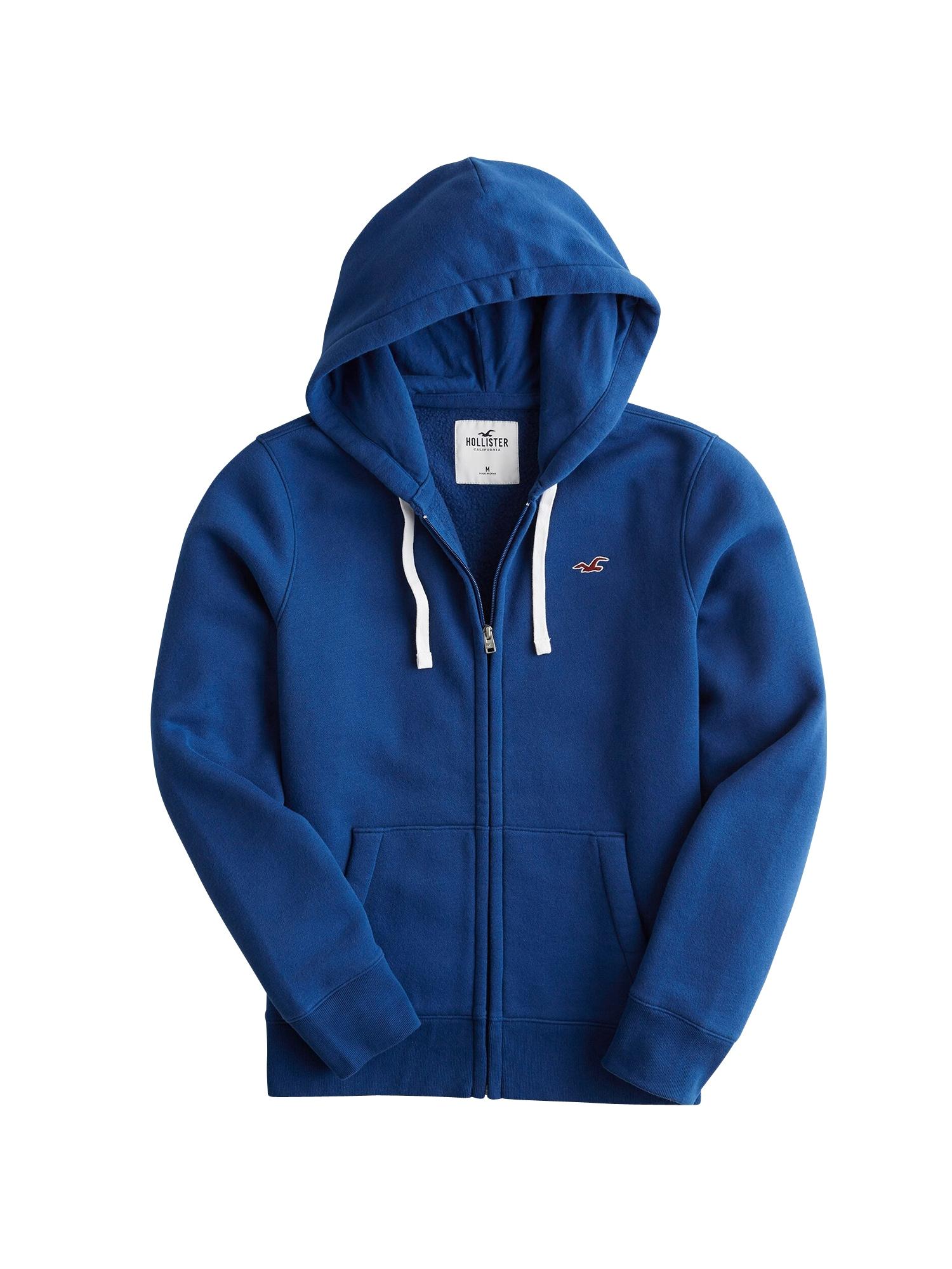 Mikina s kapucí modrá HOLLISTER