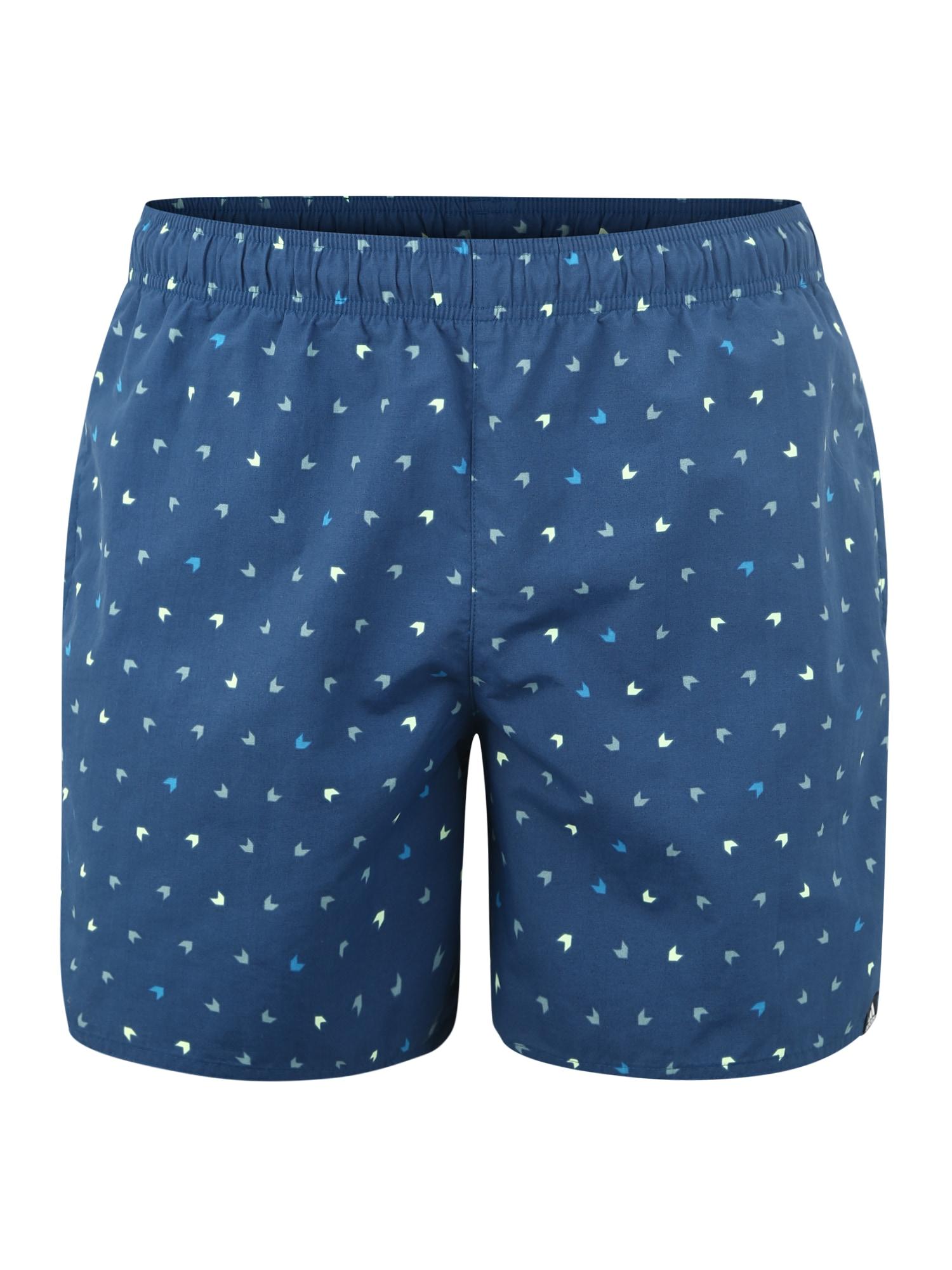 Sportovní kalhoty AOP SH SL tmavě modrá ADIDAS PERFORMANCE