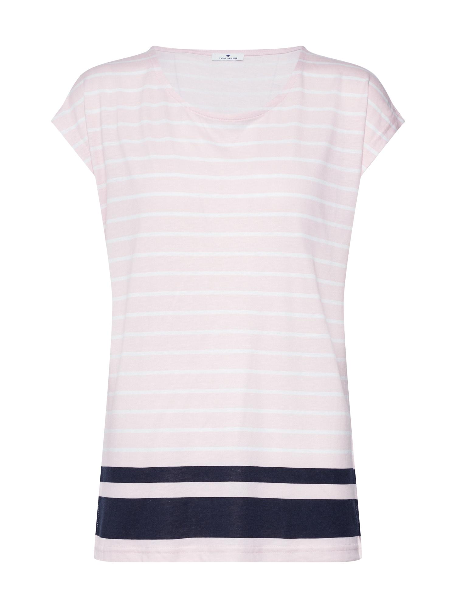 Tričko pudrová černá bílá TOM TAILOR